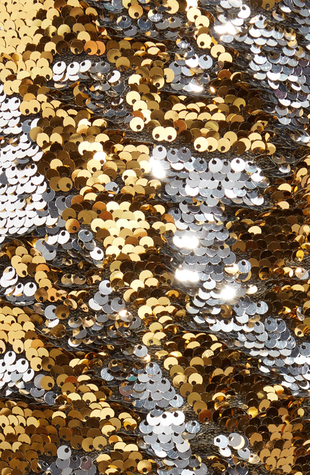 Sequin Stocking,                             Alternate thumbnail 2, color,                             Gold