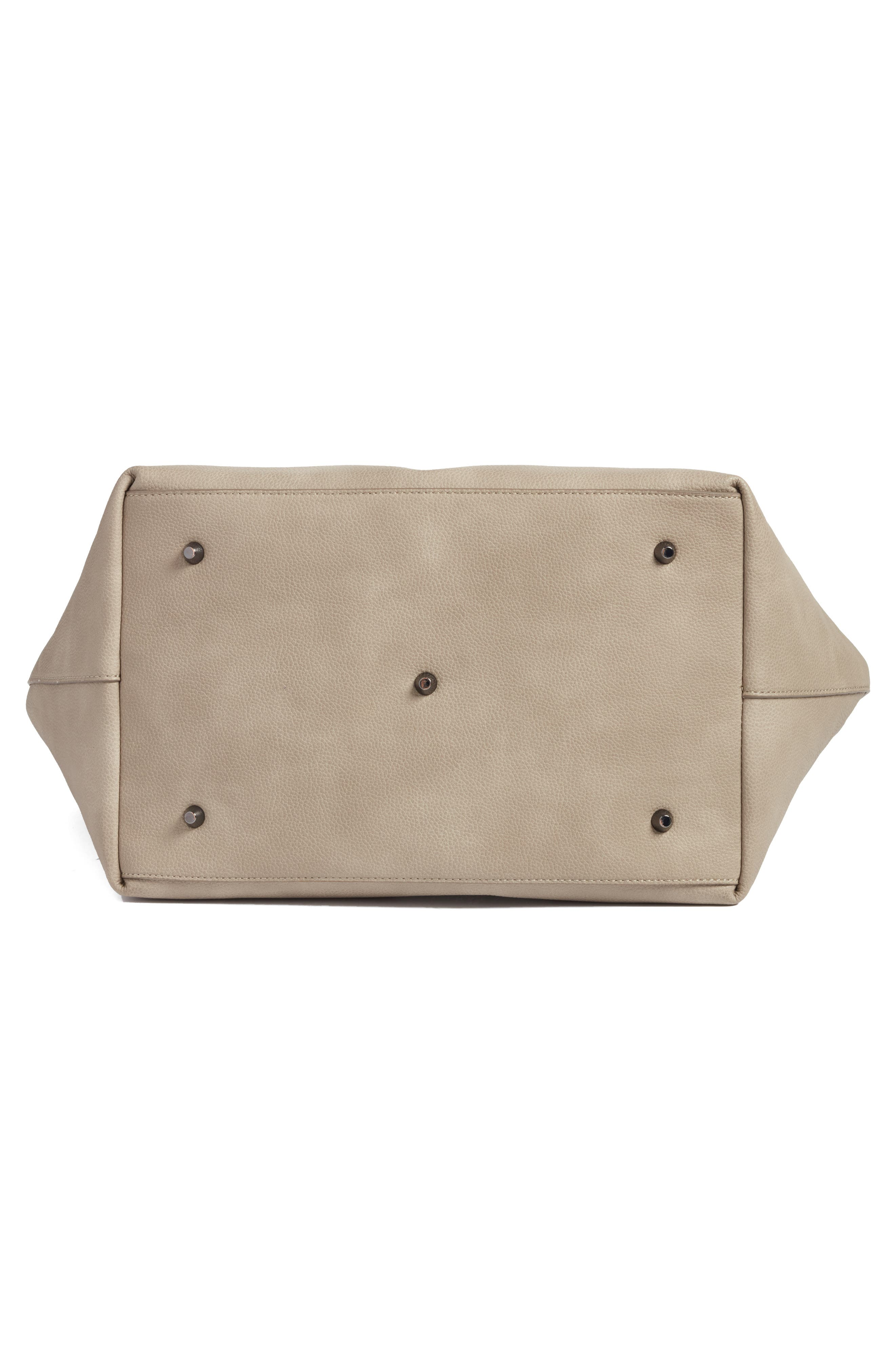 Alternate Image 5  - Sole Society Cindy Faux Leather Convertible Tote