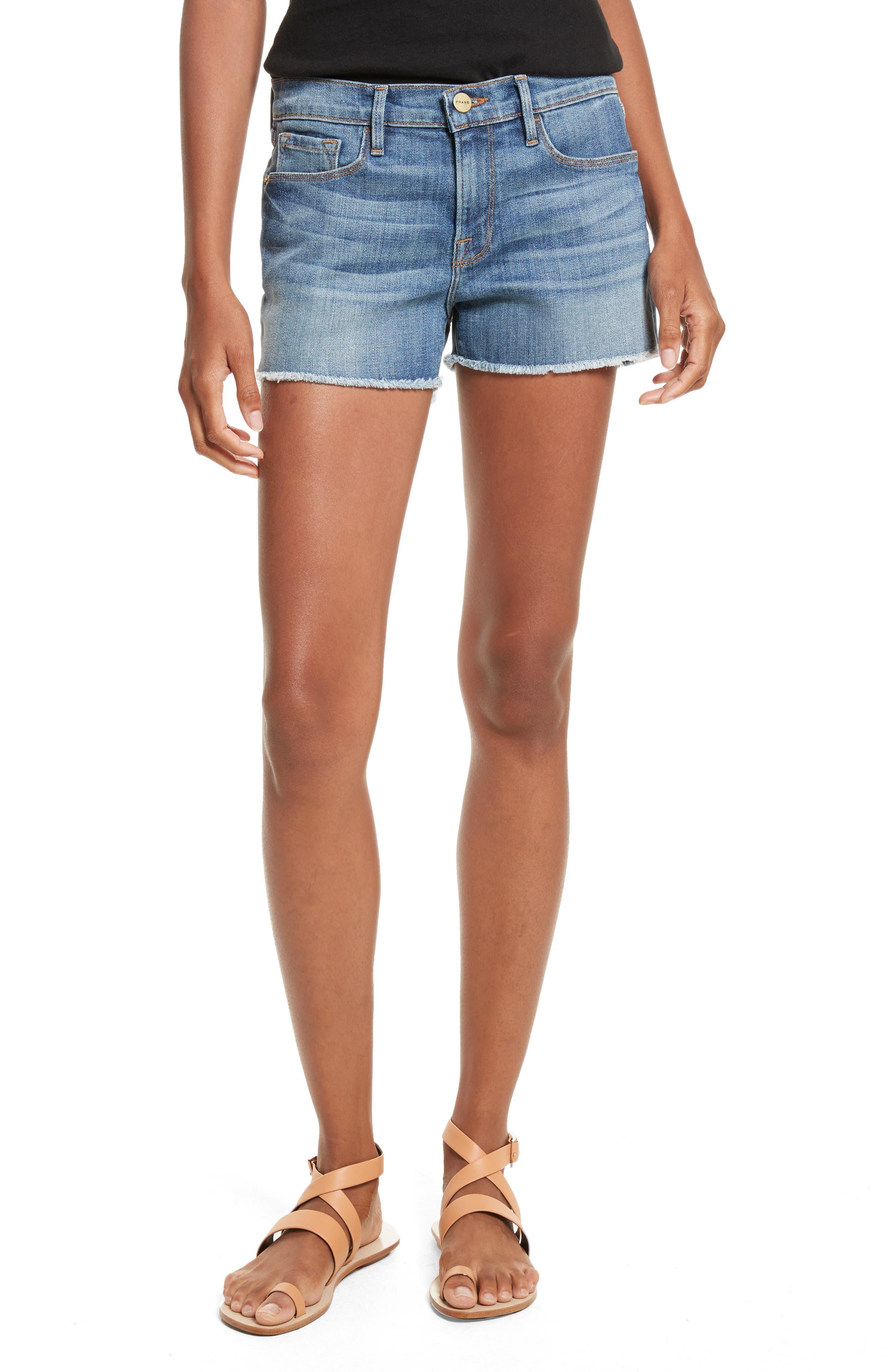 Le Cutoff Denim Shorts,                         Main,                         color, Aldred