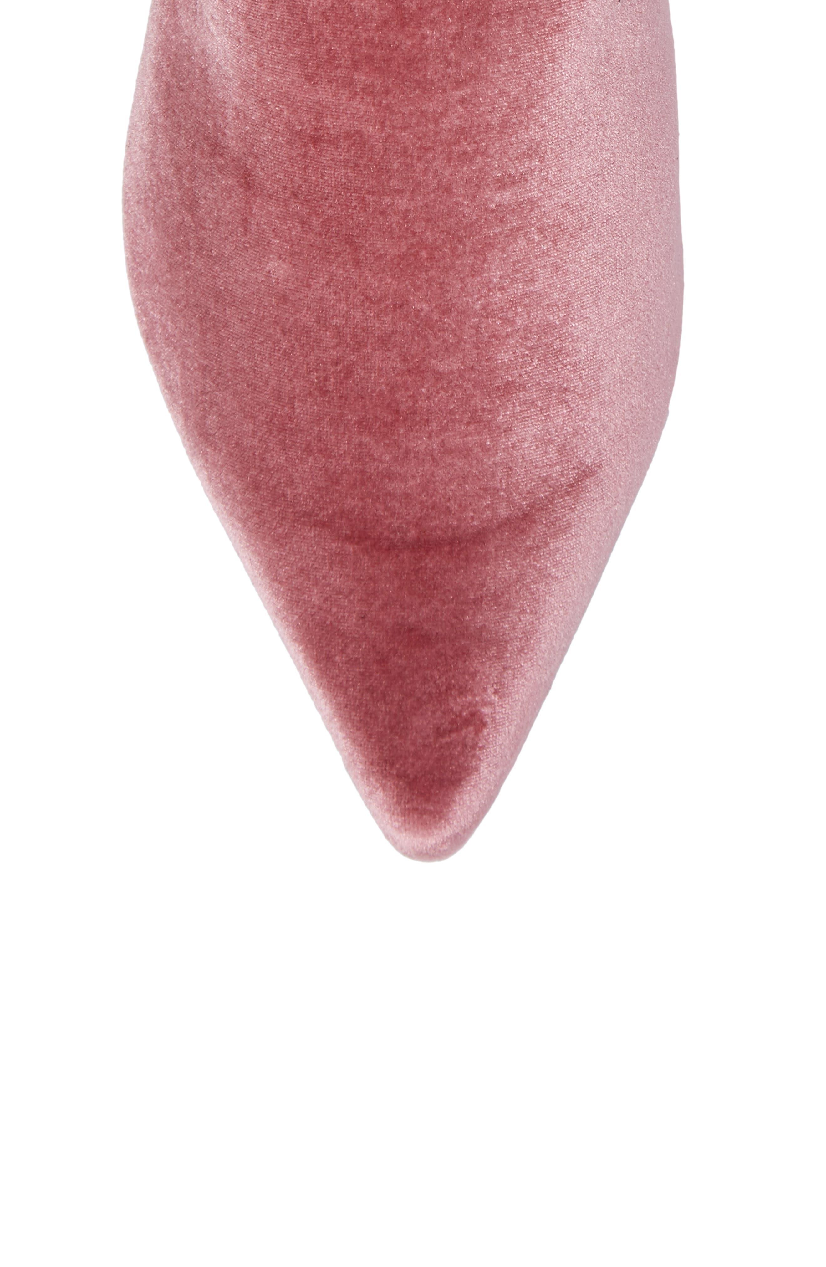 x Self-Portrait Lubat Mule,                             Alternate thumbnail 5, color,                             Dusty Pink Velvet