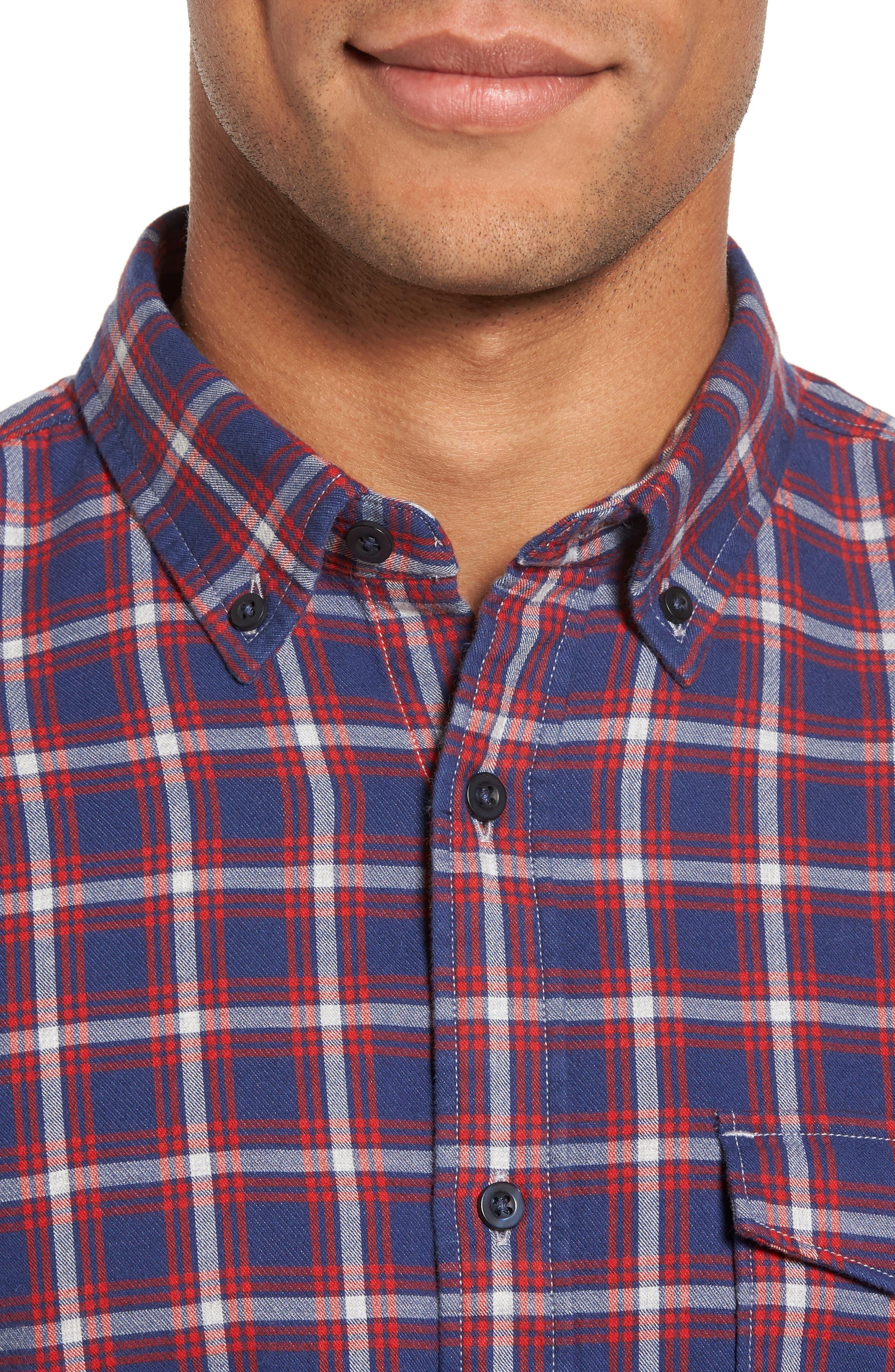 Alternate Image 4  - Nordstrom Men's Shop Trim Fit Duofold Check Sport Shirt