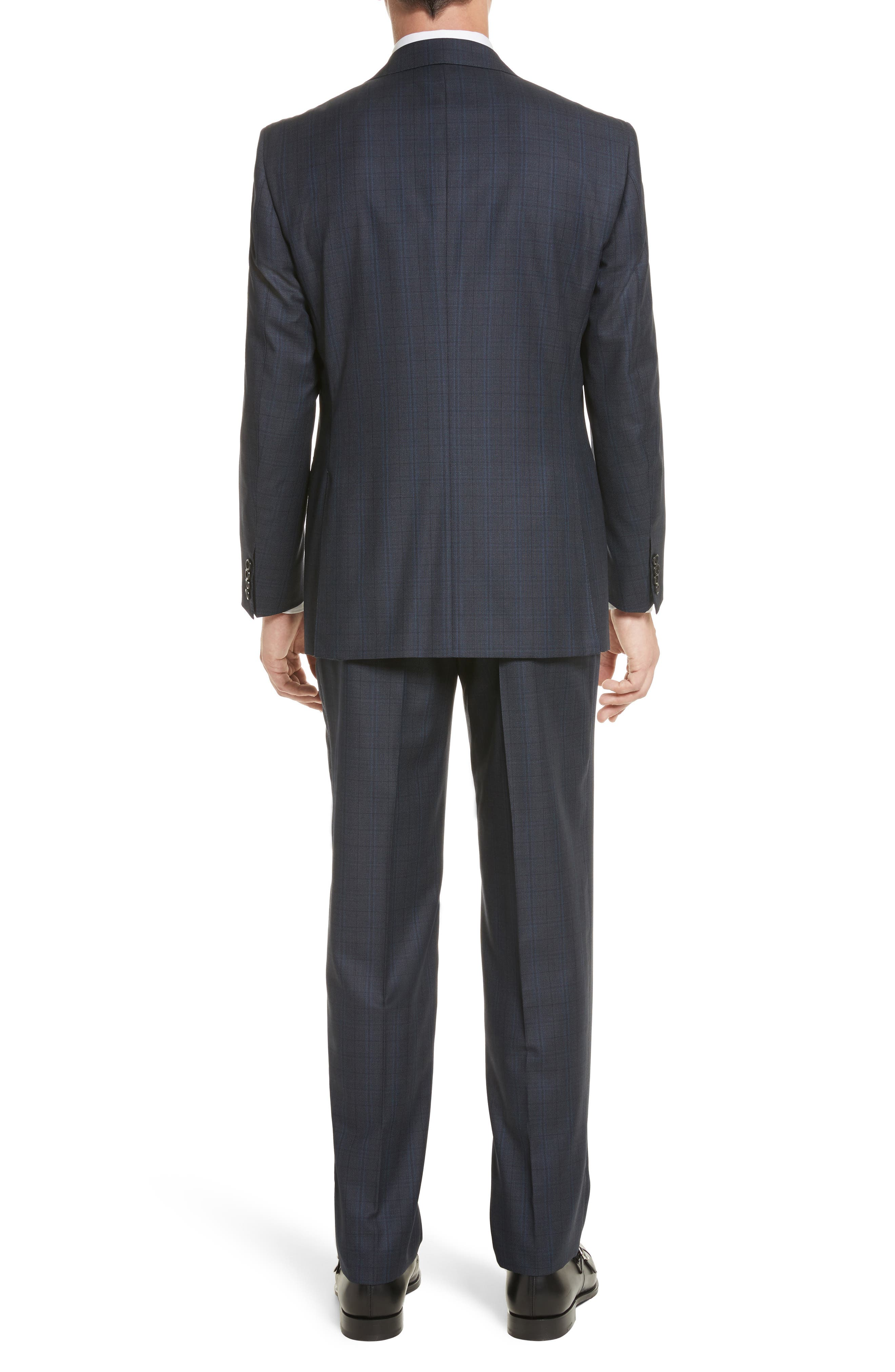 Alternate Image 2  - Canali Classic Fit Check Wool Suit