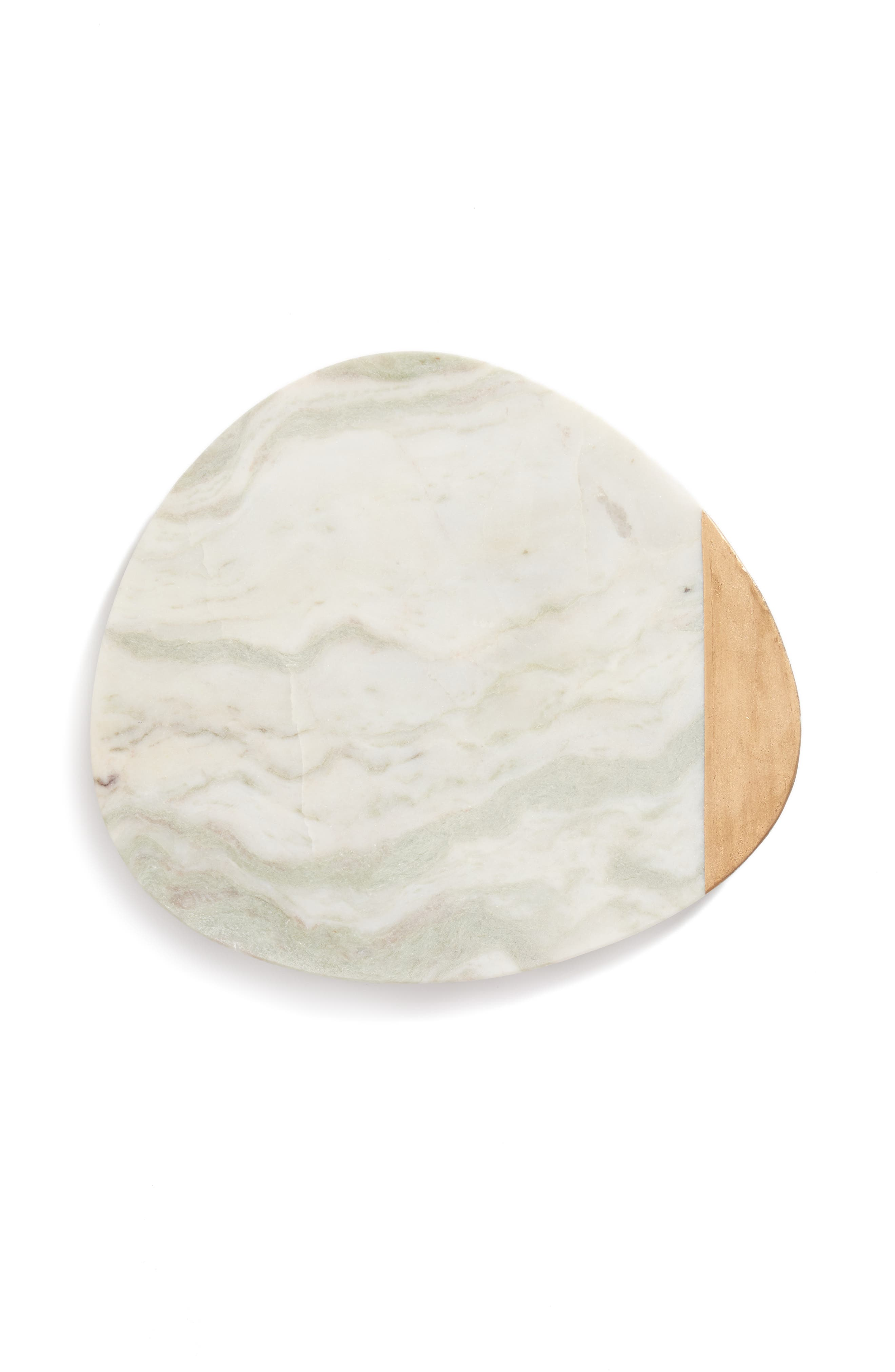 Nordstrom at Home Guitar Pick Marble Serving Board