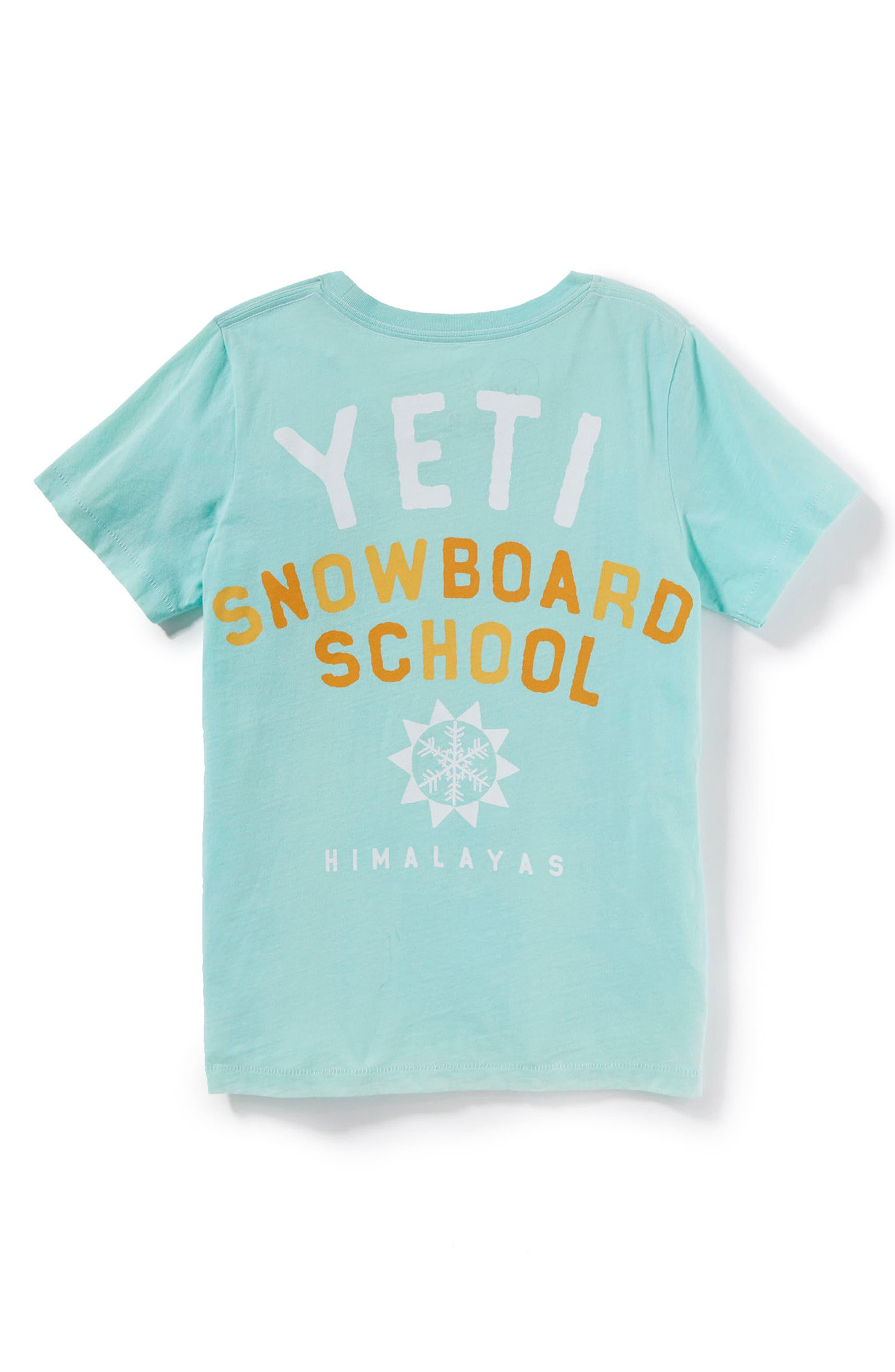 Alternate Image 2  - Peek Yeti Snowboard Graphic T-Shirt (Toddler Boys, Little Boys & Big Boys)
