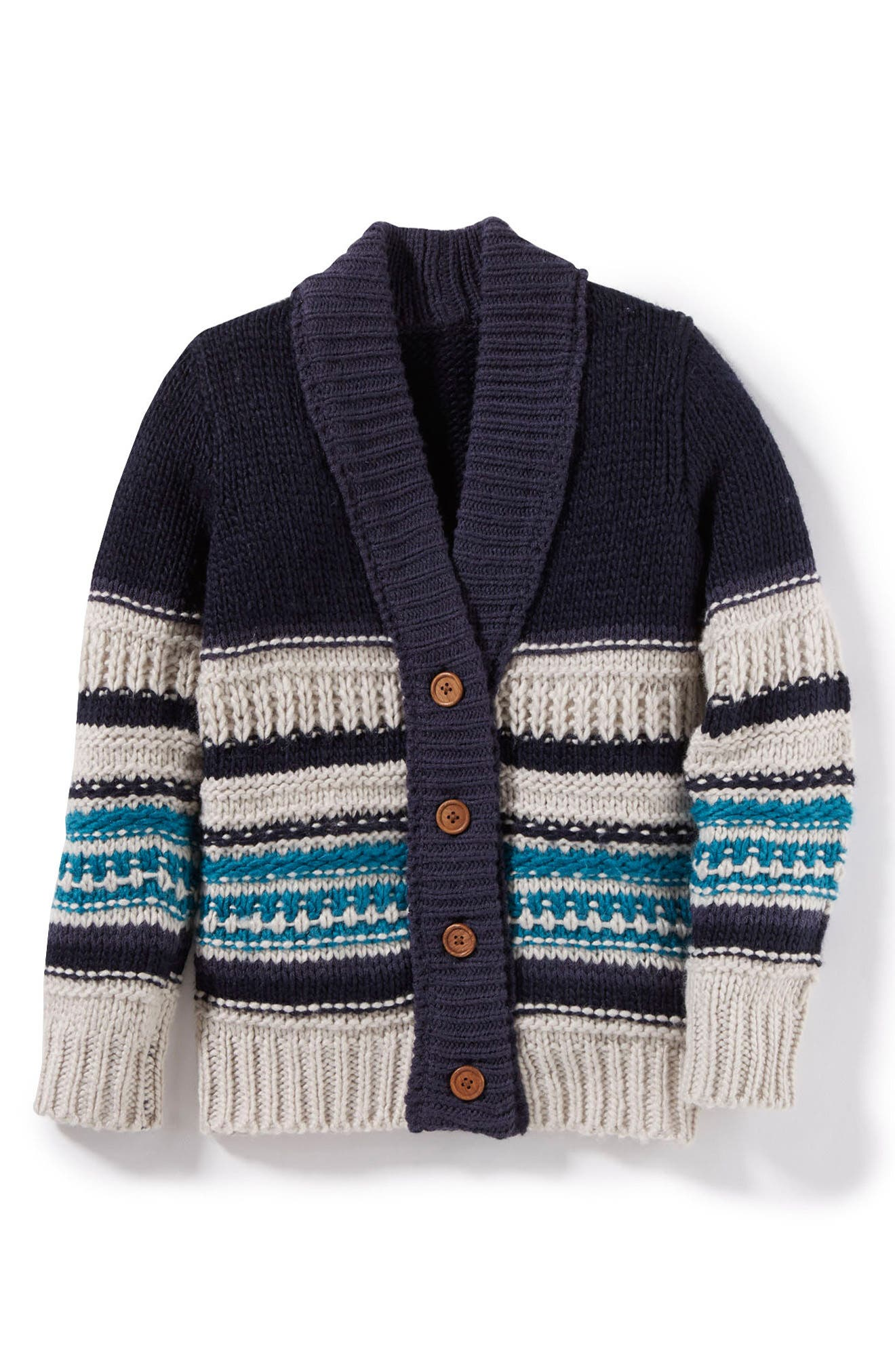 Peek Ollie Striped Cardigan Sweater (Toddler Boys, Little Boys & Big Boys)