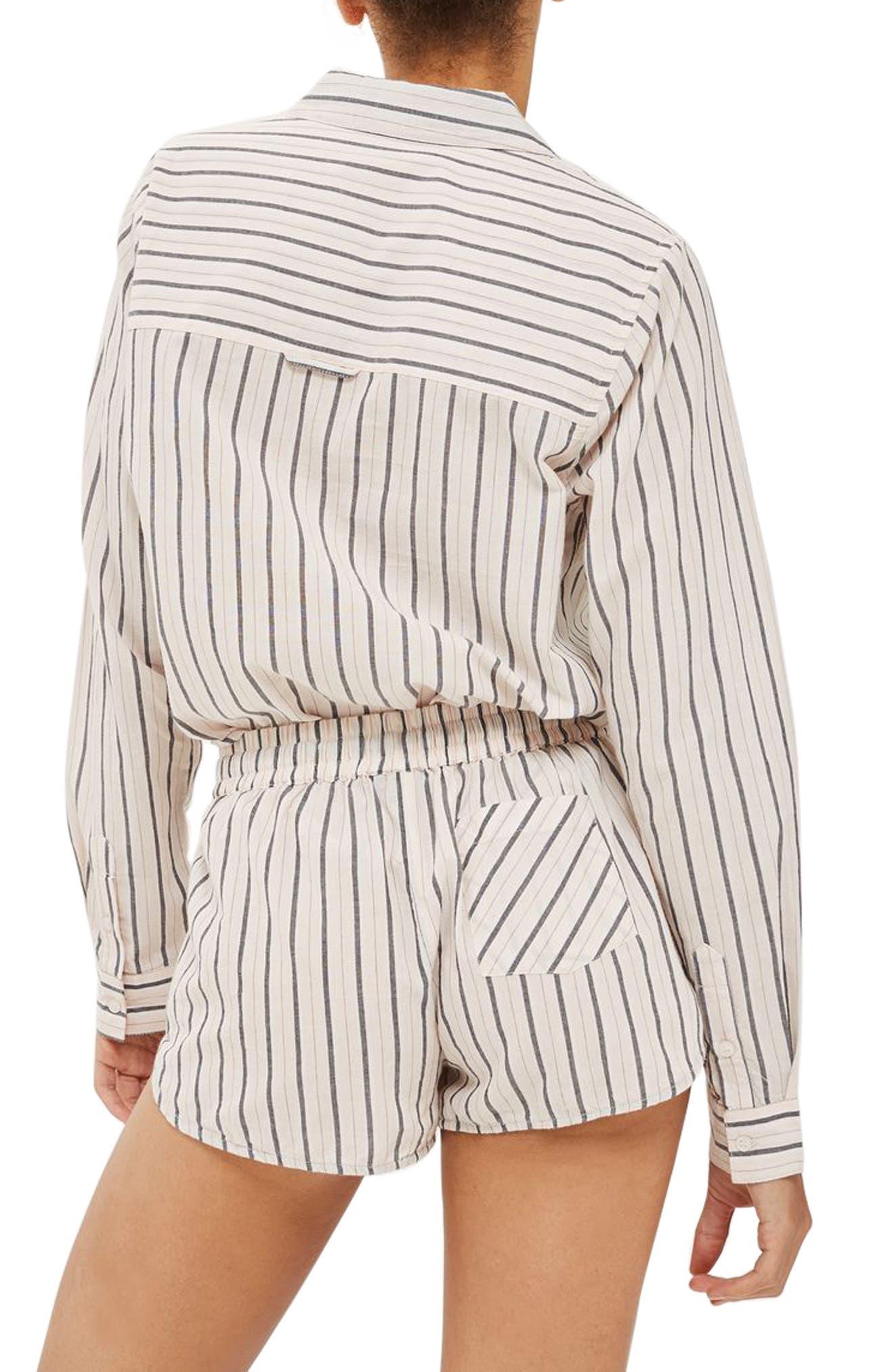 Alternate Image 2  - Topshop Stripe Pajama Shorts