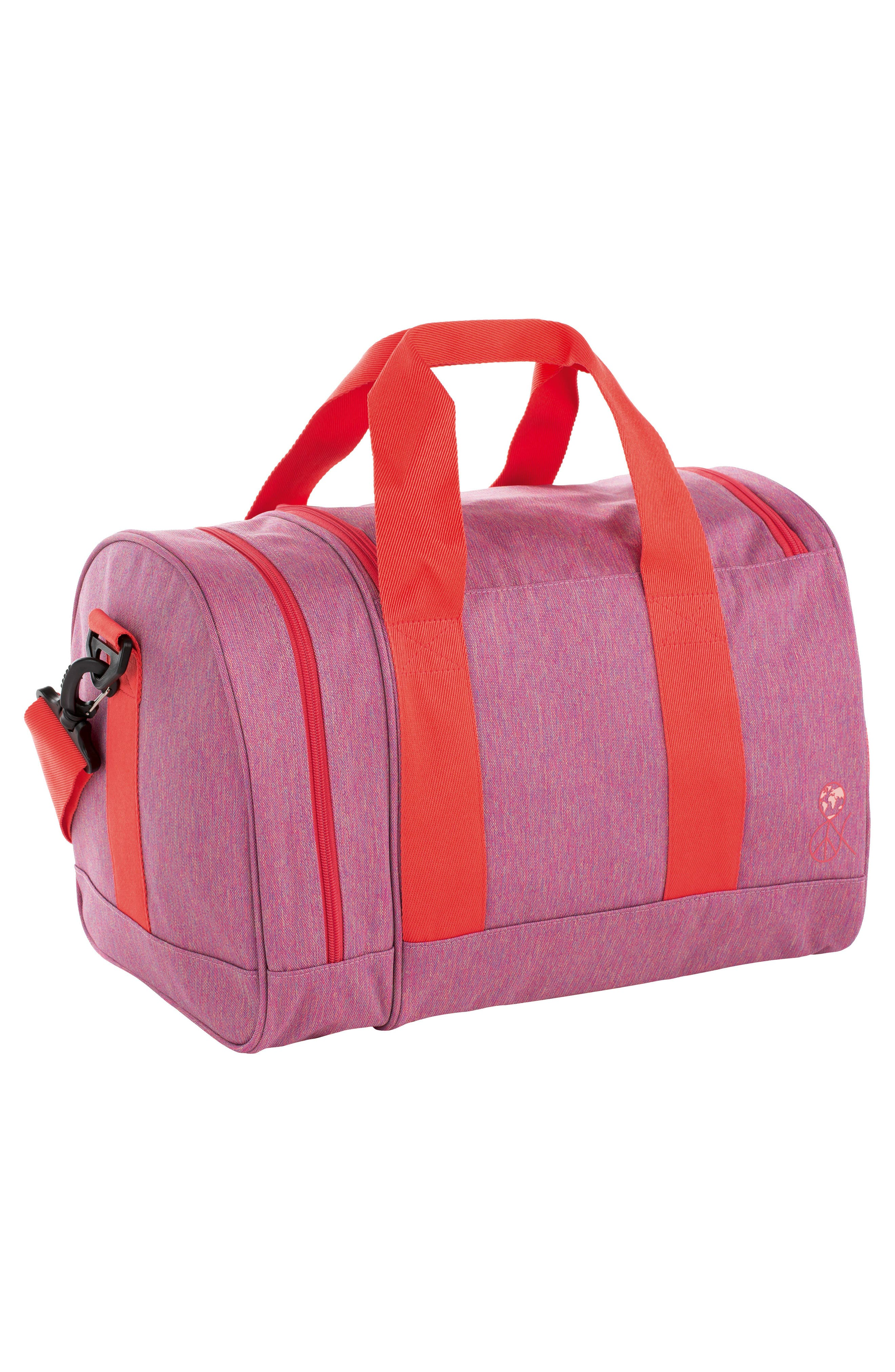 Mini About Friends Duffel Bag,                             Alternate thumbnail 2, color,                             Melange Pink