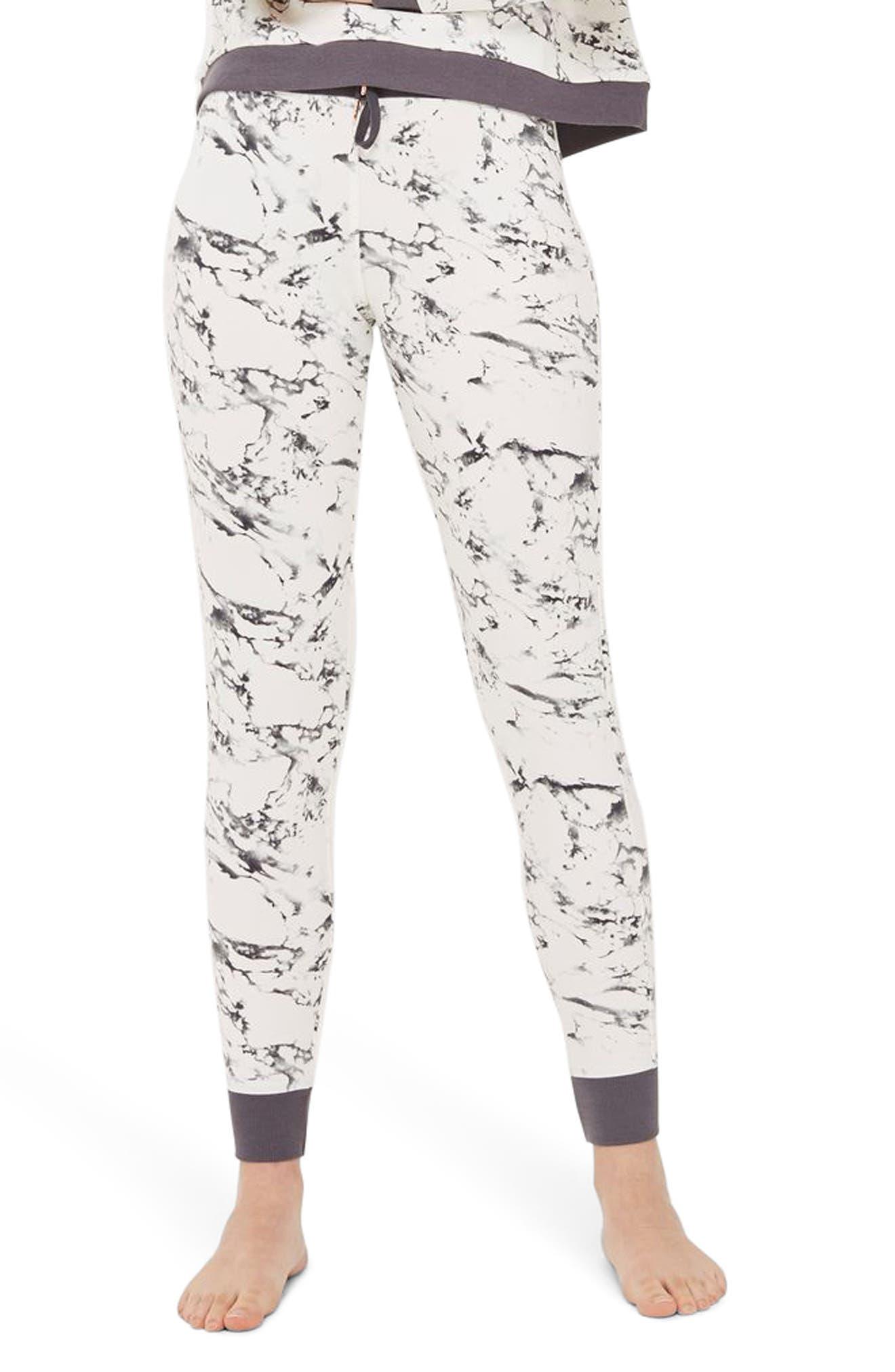 Topshop Marble Print Jogger Pants