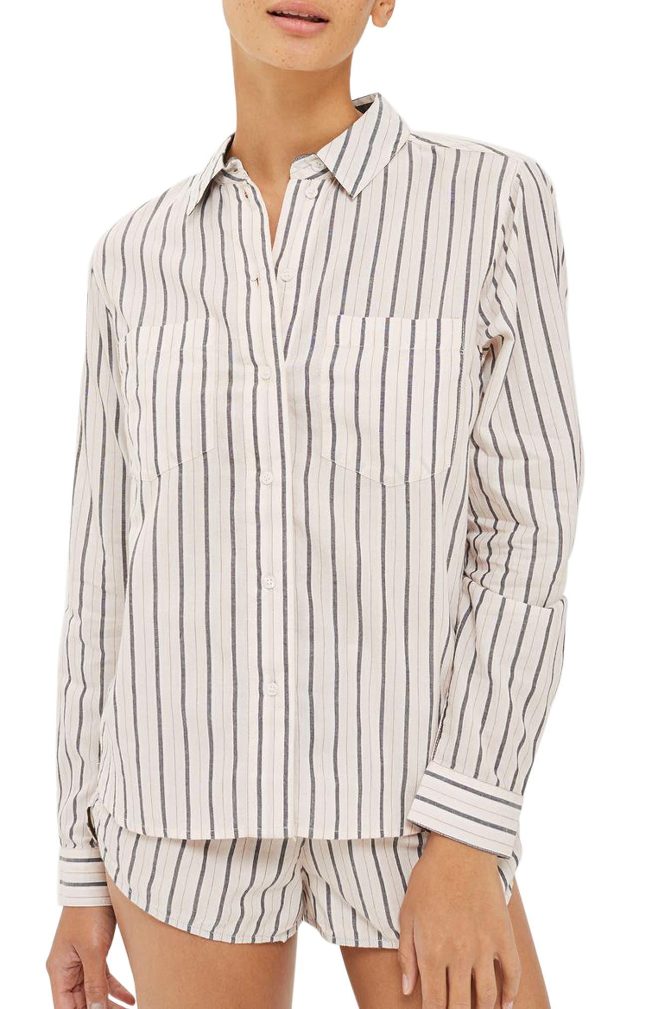 Stripe Shirt,                             Main thumbnail 1, color,                             Pink Multi