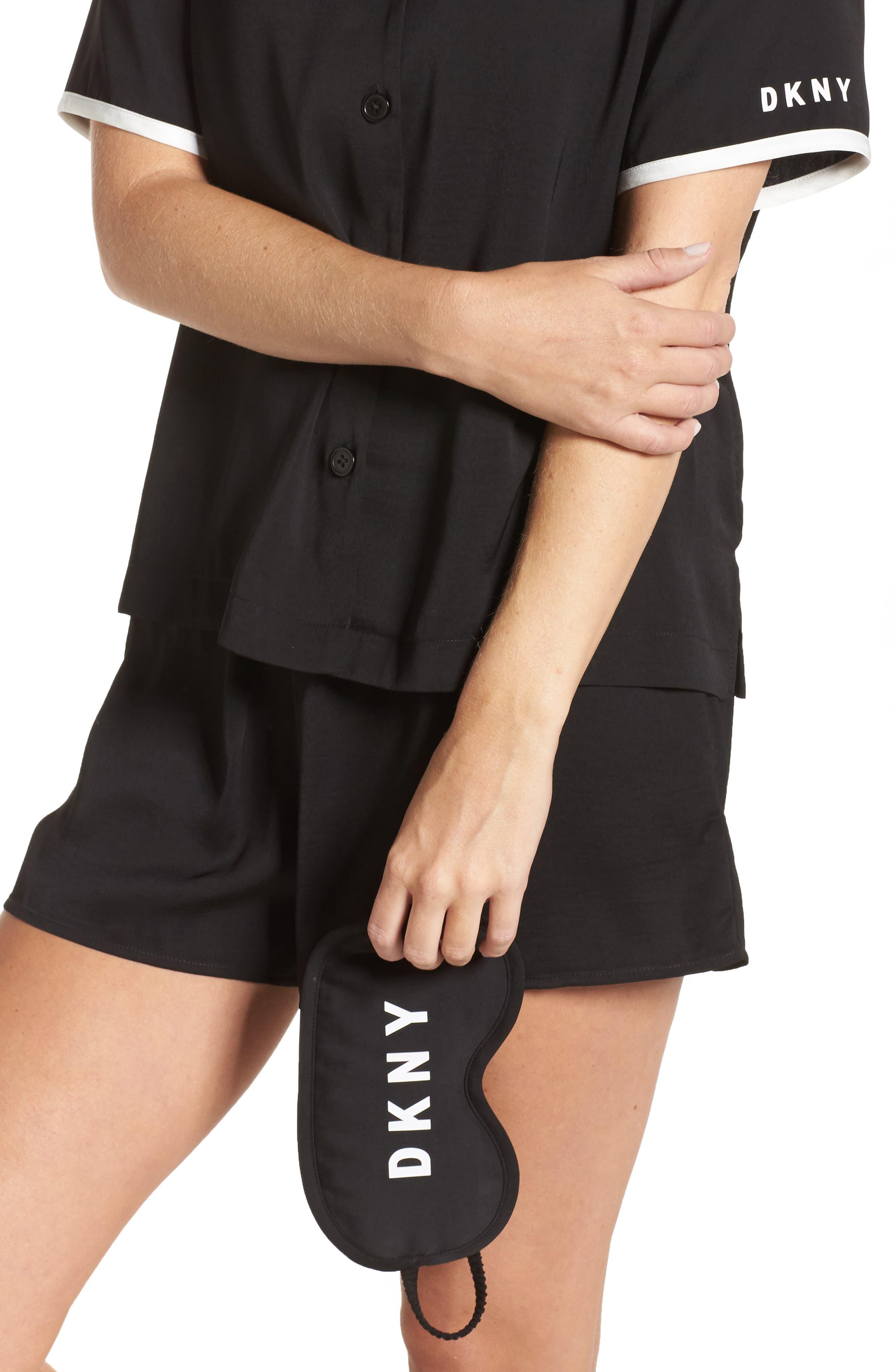 Alternate Image 4  - DKNY Washed Satin Short Pajamas & Eye Mask
