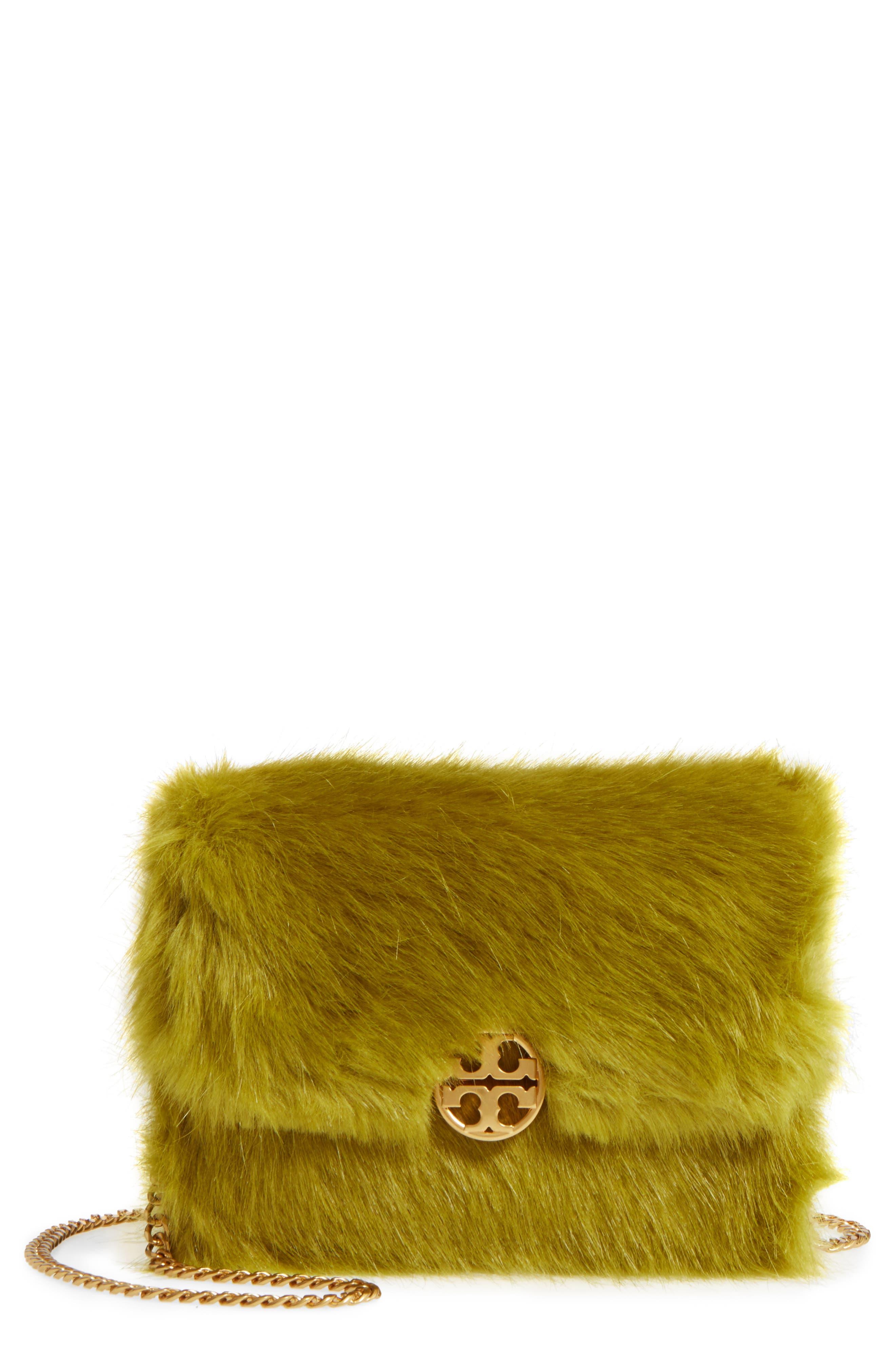 Main Image - Tory Burch Mini Chelsea Faux Fur Convertible Crossbody Bag