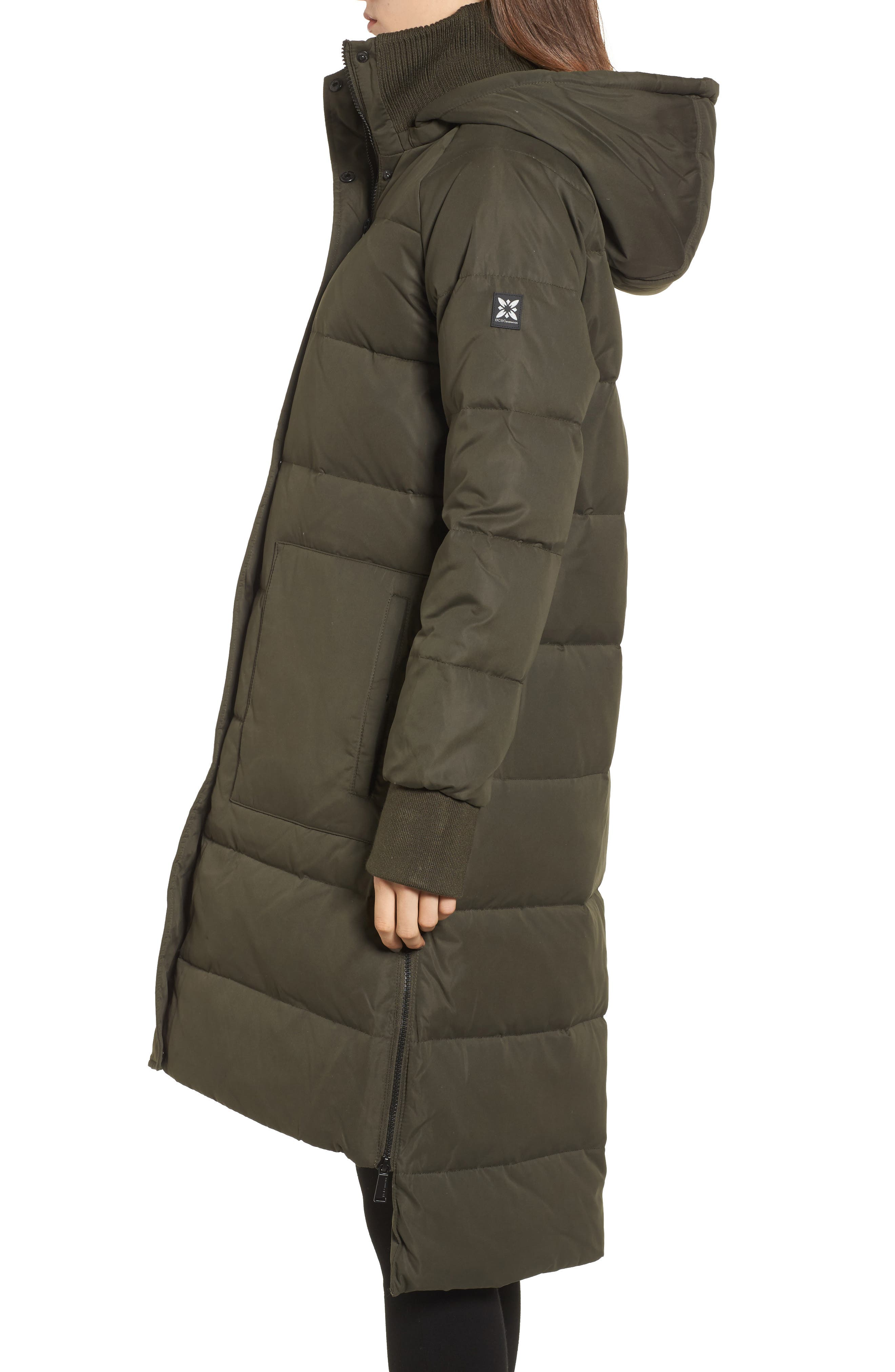 Down & Feather Fill Puffer Jacket,                             Alternate thumbnail 2, color,                             Army