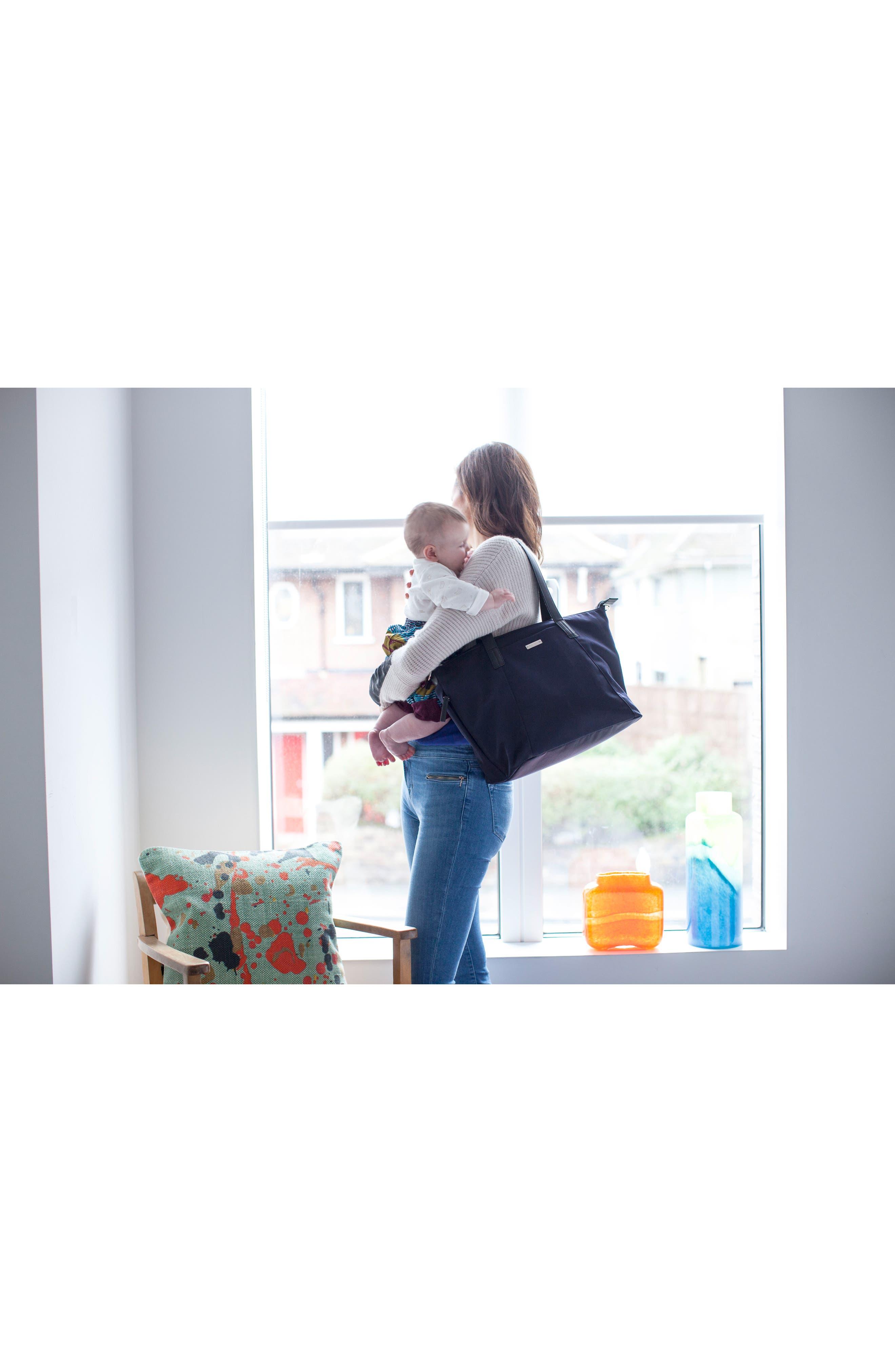 Noa Luxe Diaper Bag,                             Alternate thumbnail 8, color,                             Midnight Blue
