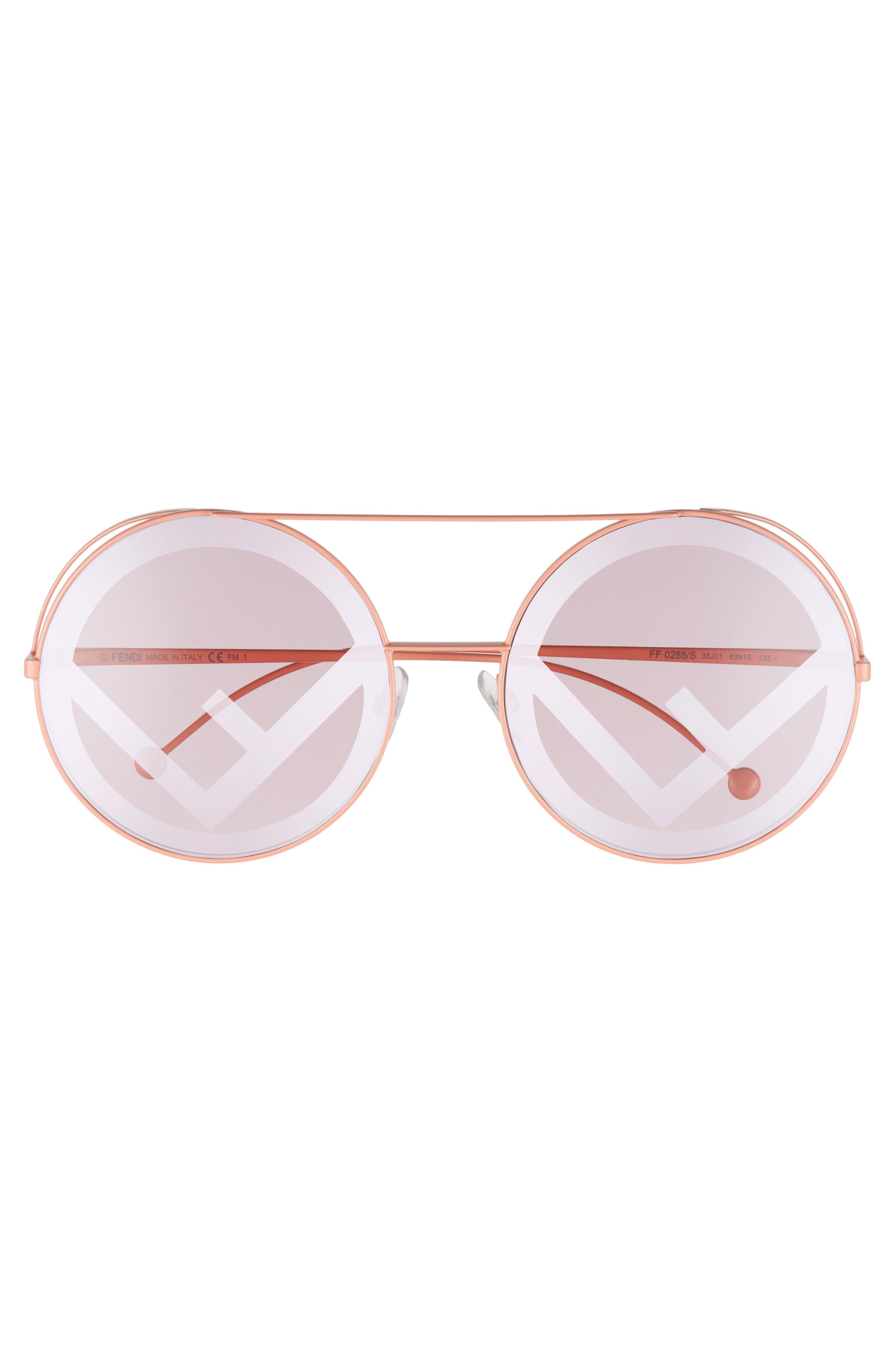 Alternate Image 3  - Fendi Run Away 63mm Round Sunglasses
