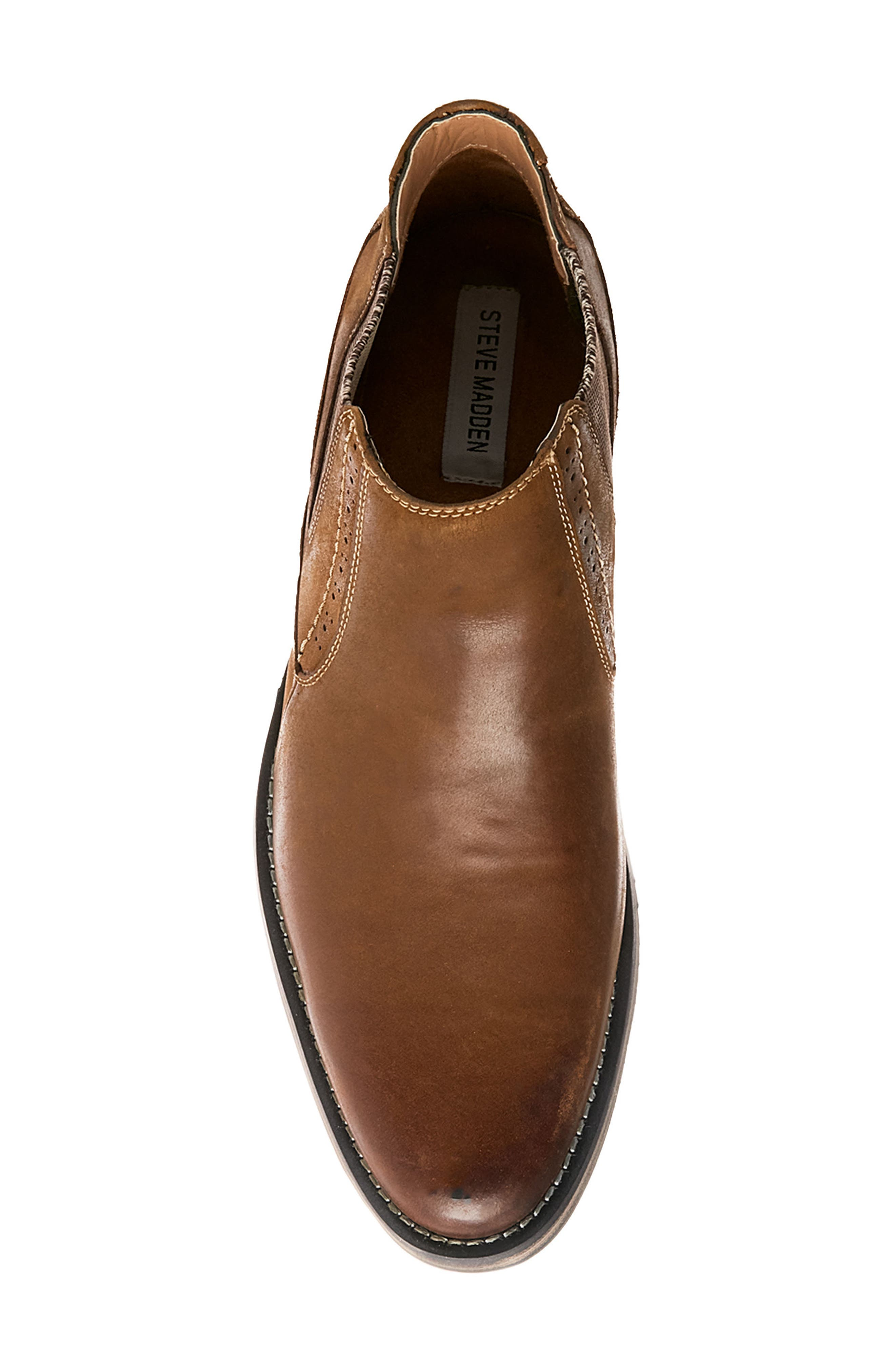 Paxton Chelsea Boot,                             Alternate thumbnail 5, color,                             Camel Leather