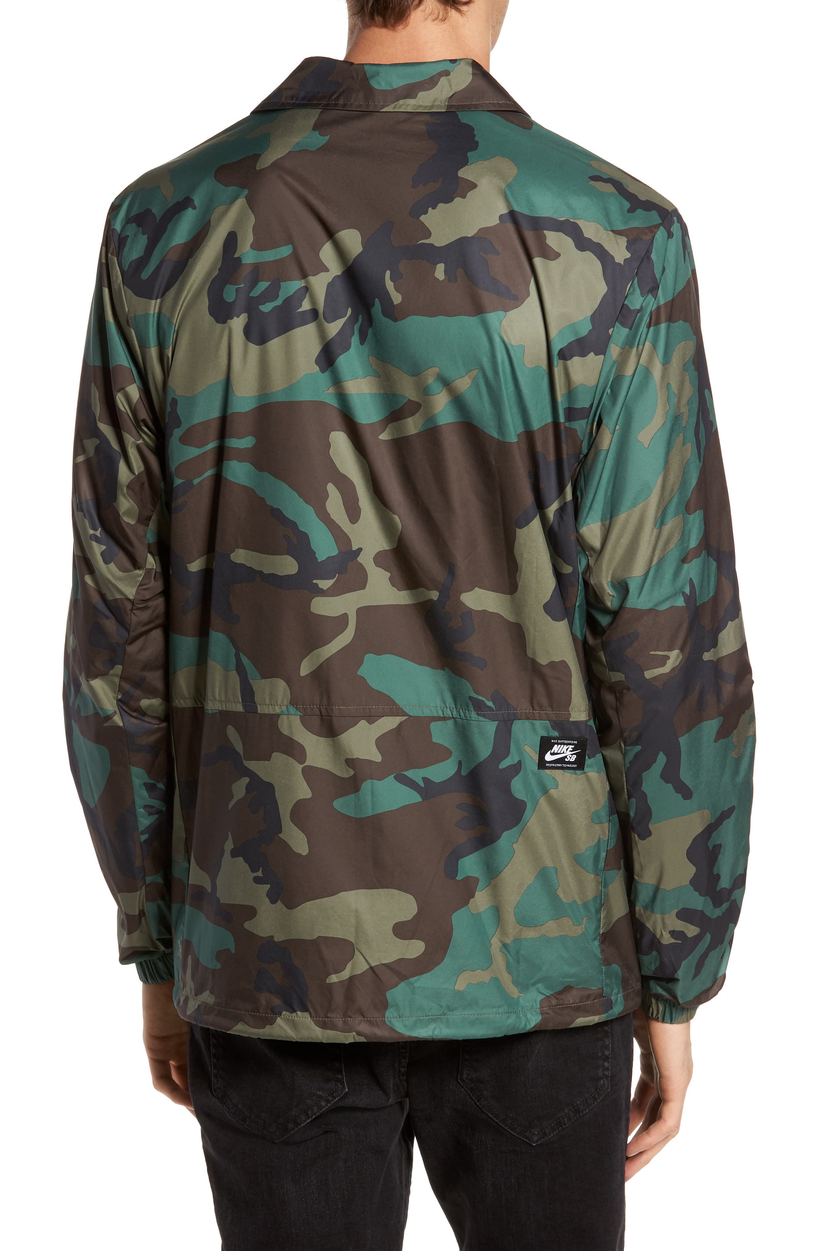 Shield Coach's Jacket,                             Alternate thumbnail 2, color,                             Medium Olive/ Black