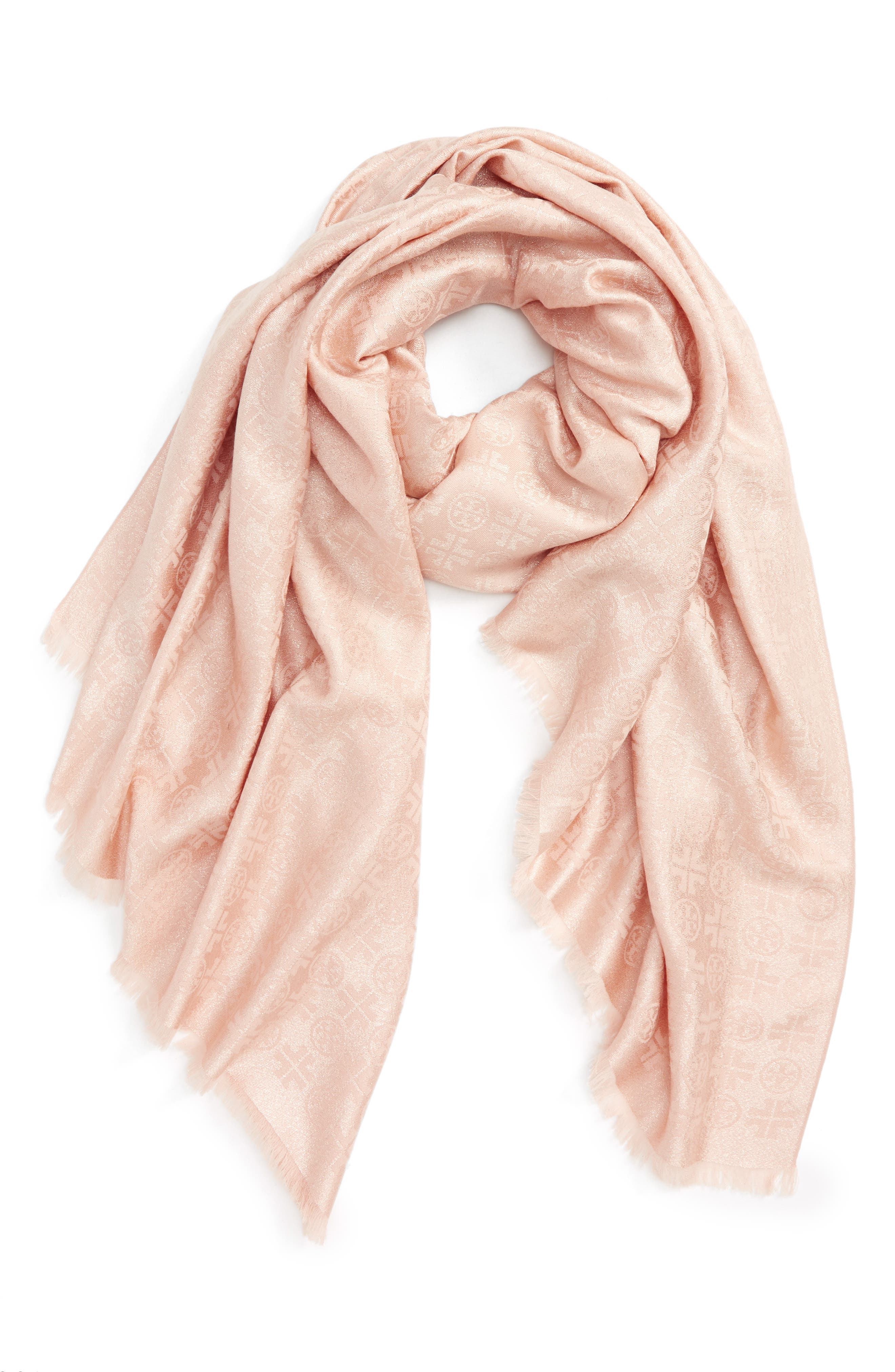 Main Image - Tory Burch Traveler Jacquard Oblong Scarf