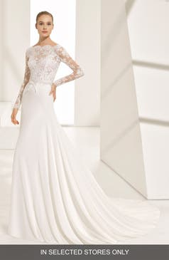 Wedding Dress With Long Lace Sleeves | Long Sleeve Wedding Dresses Bridal Gowns Nordstrom