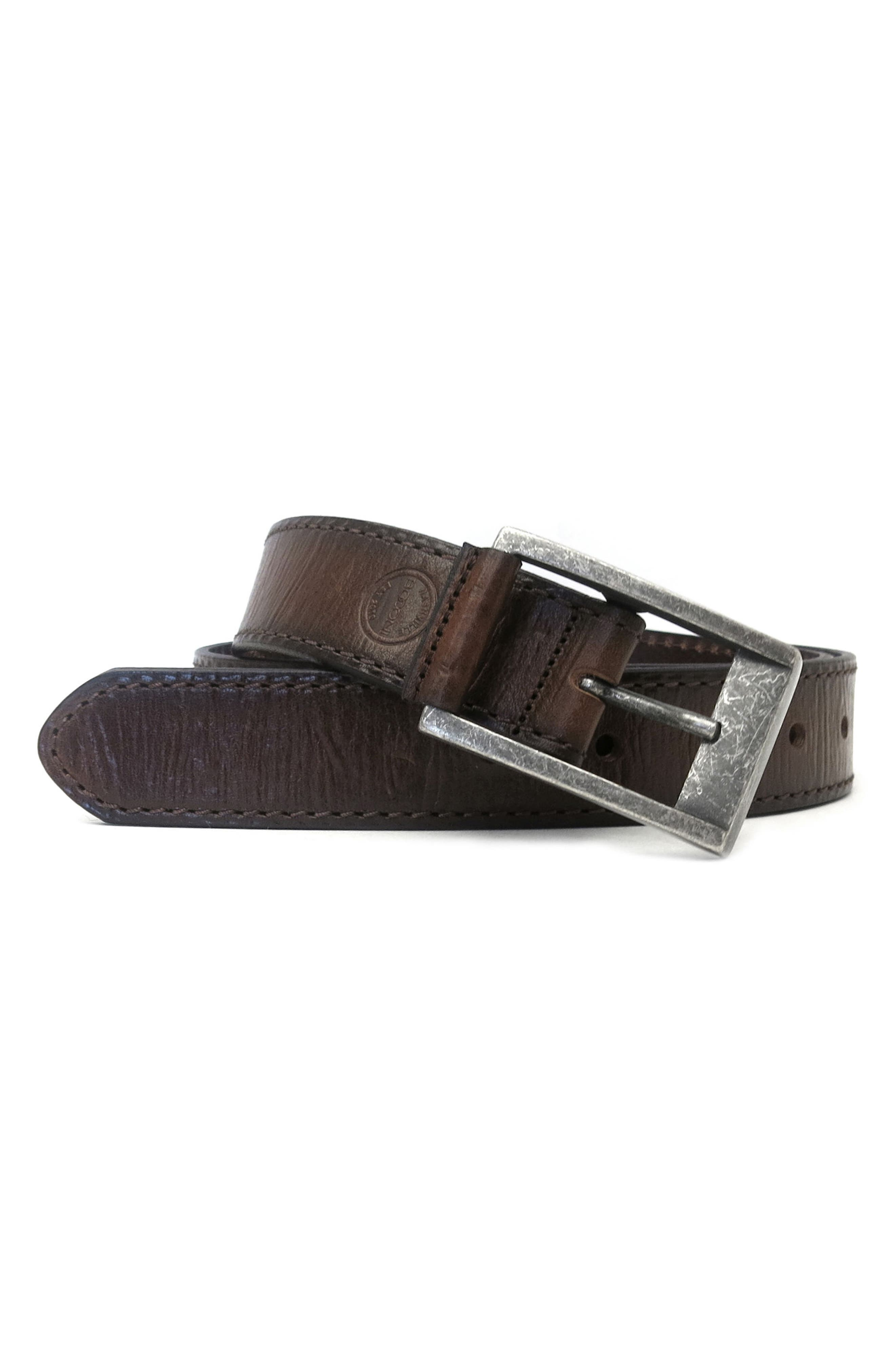 Alternate Image 2  - Boconi Burnished Calfskin Leather Belt