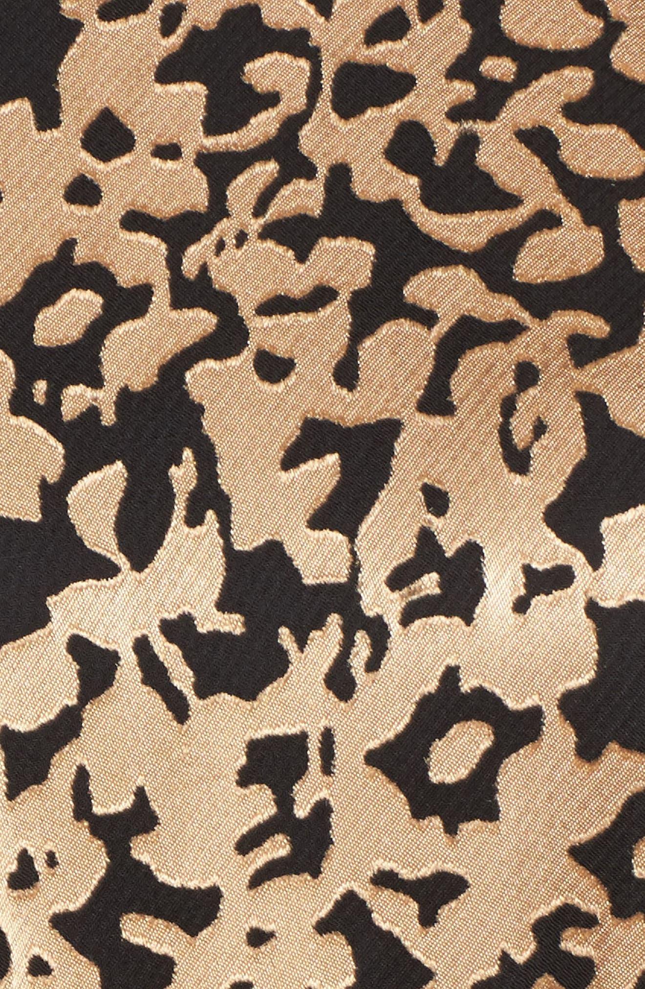 Kells Metallic Fit & Flare Dress,                             Alternate thumbnail 5, color,                             Gold/ Black