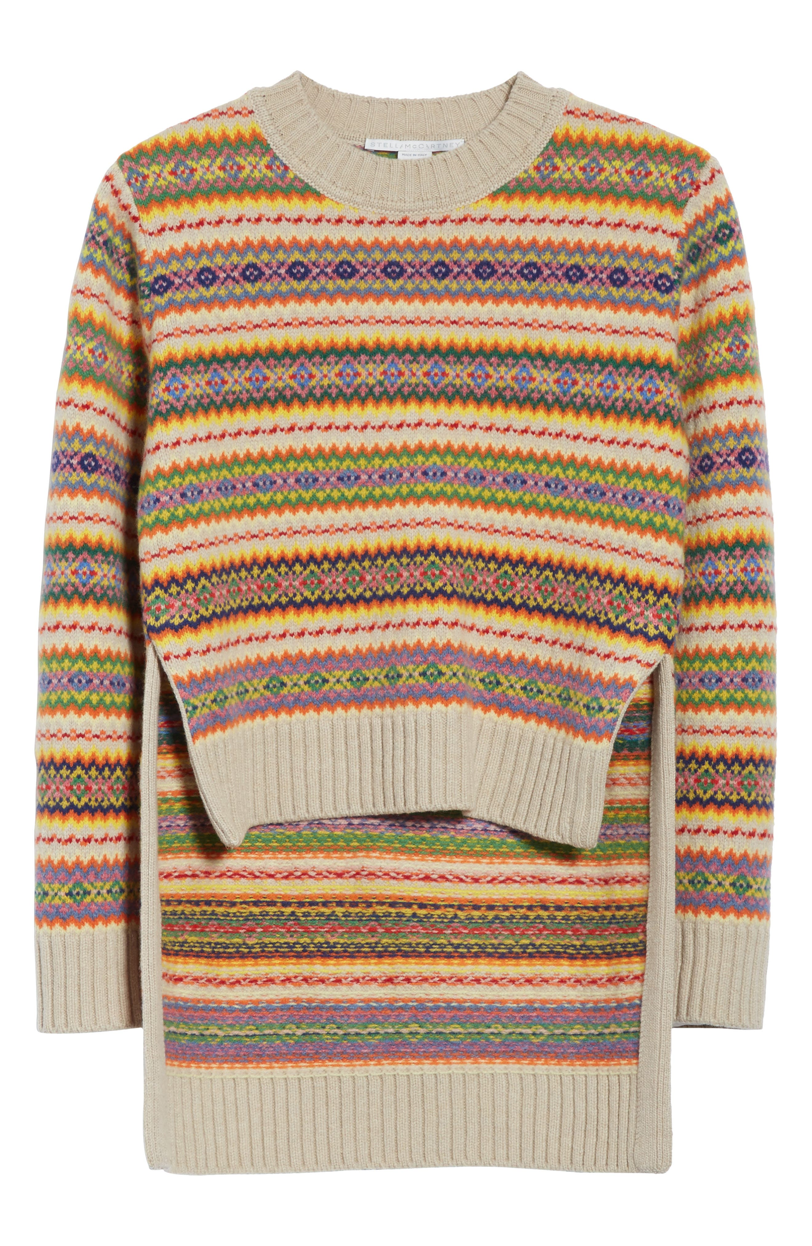 Shetland Wool Fair Isle Sweater,                             Alternate thumbnail 6, color,                             Multicolor