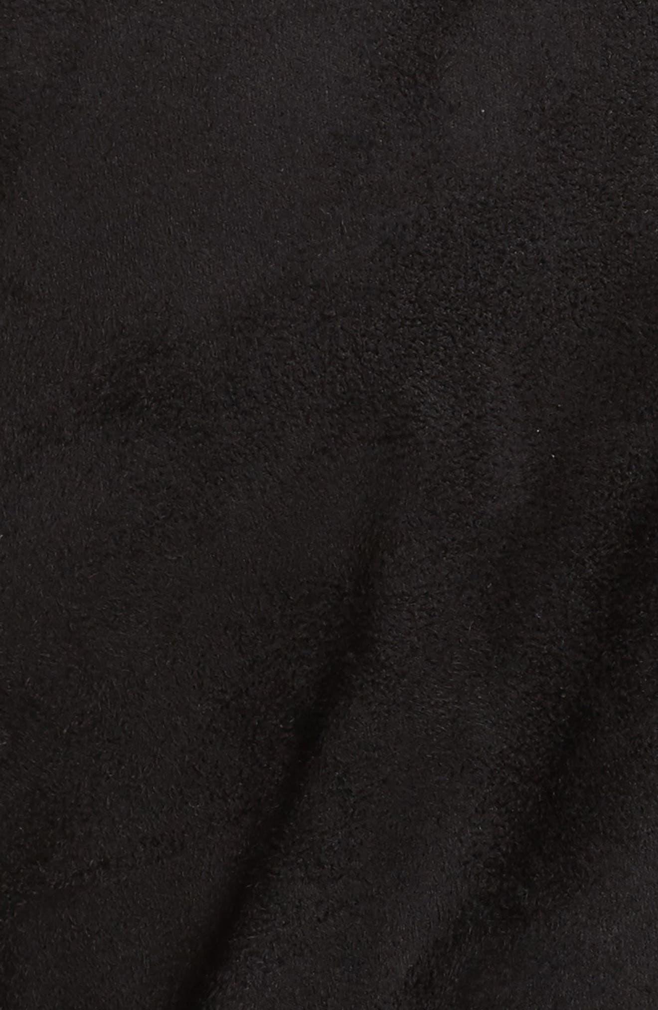 LA Winter Faux Fur Lined Jacket,                             Alternate thumbnail 6, color,                             Black