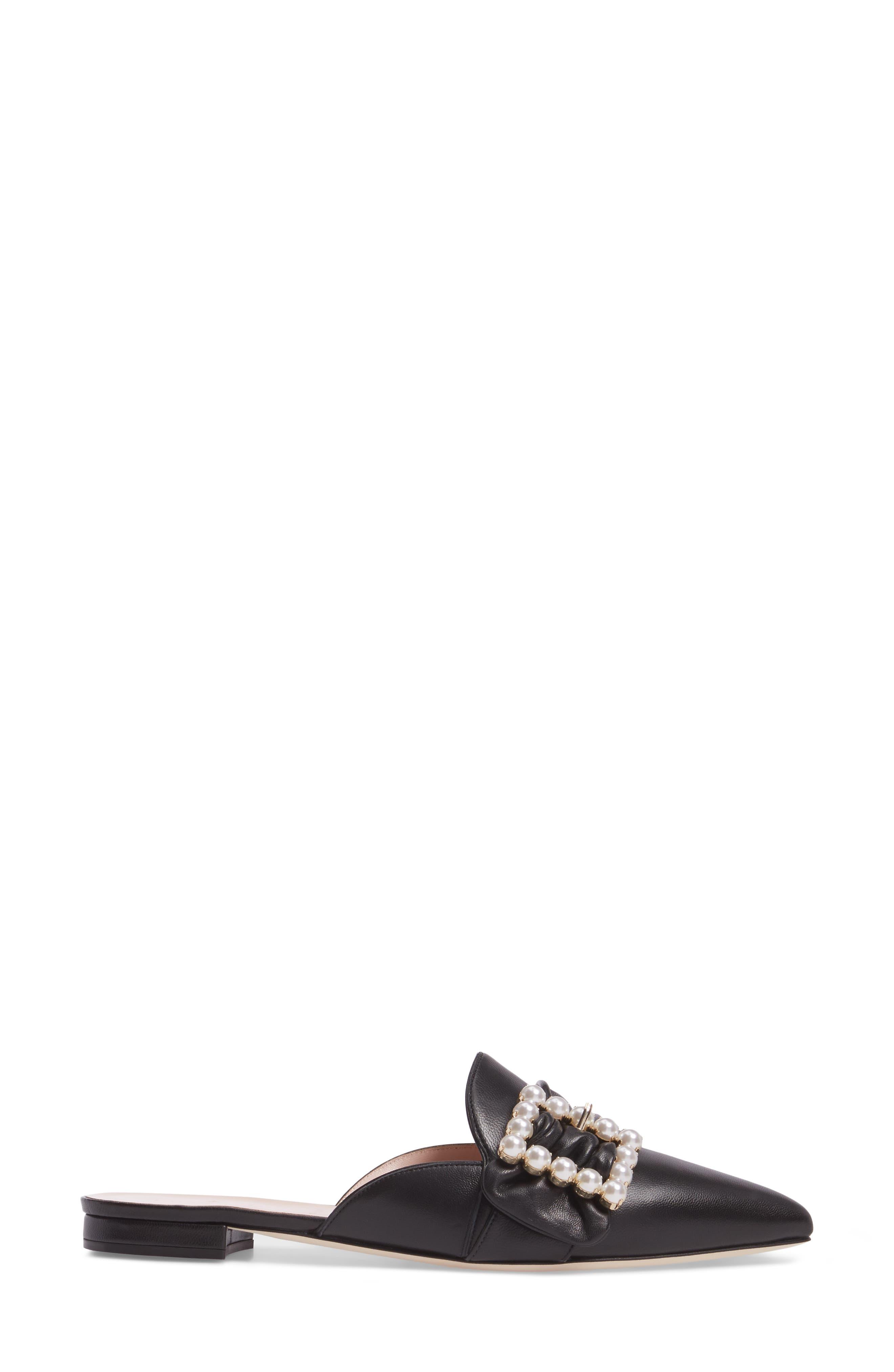 broadway mule,                             Alternate thumbnail 3, color,                             Black Nappa