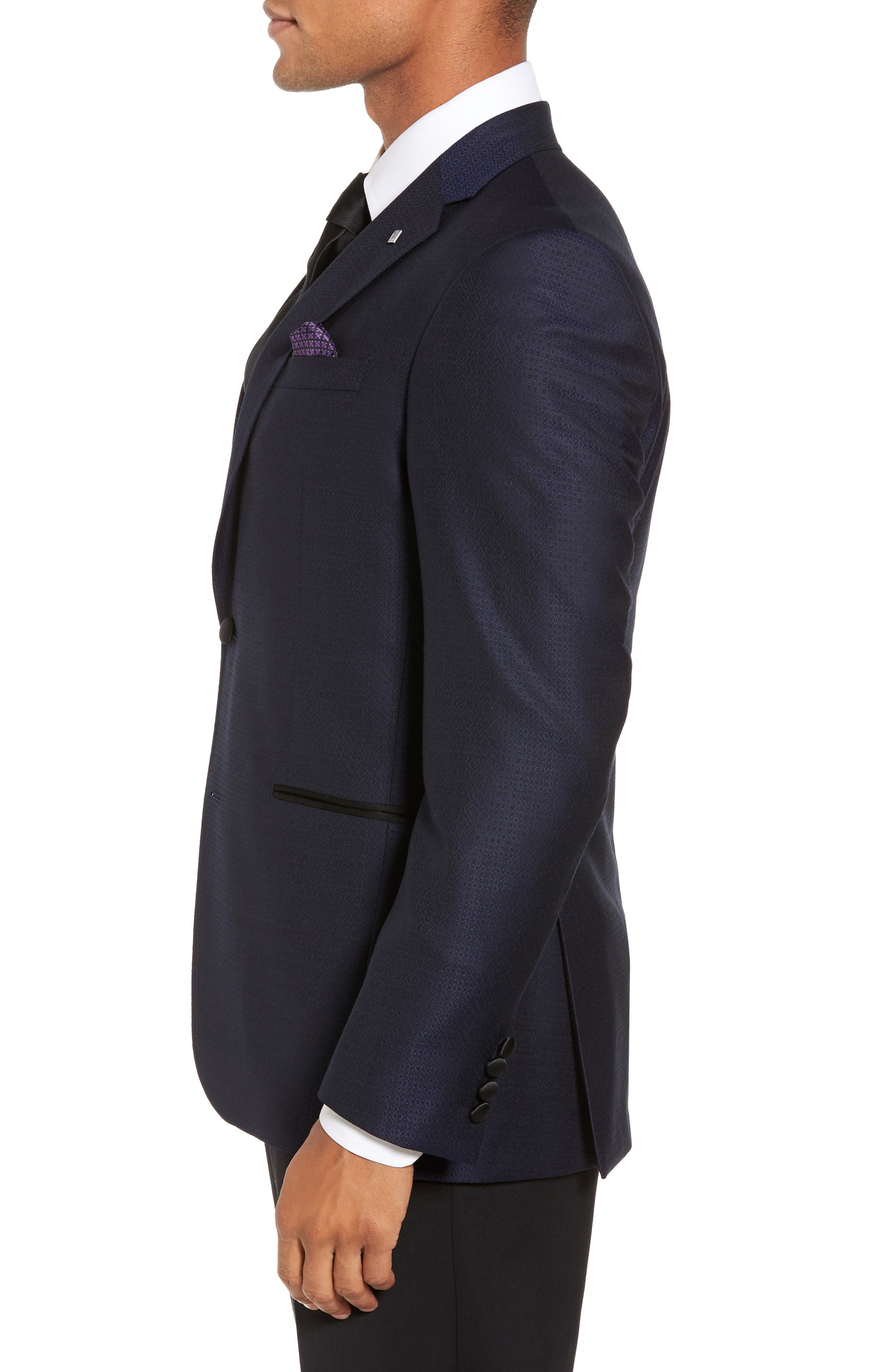 Alternate Image 3  - Ted Baker London Jack Trim Fit Wool Dinner Jacket