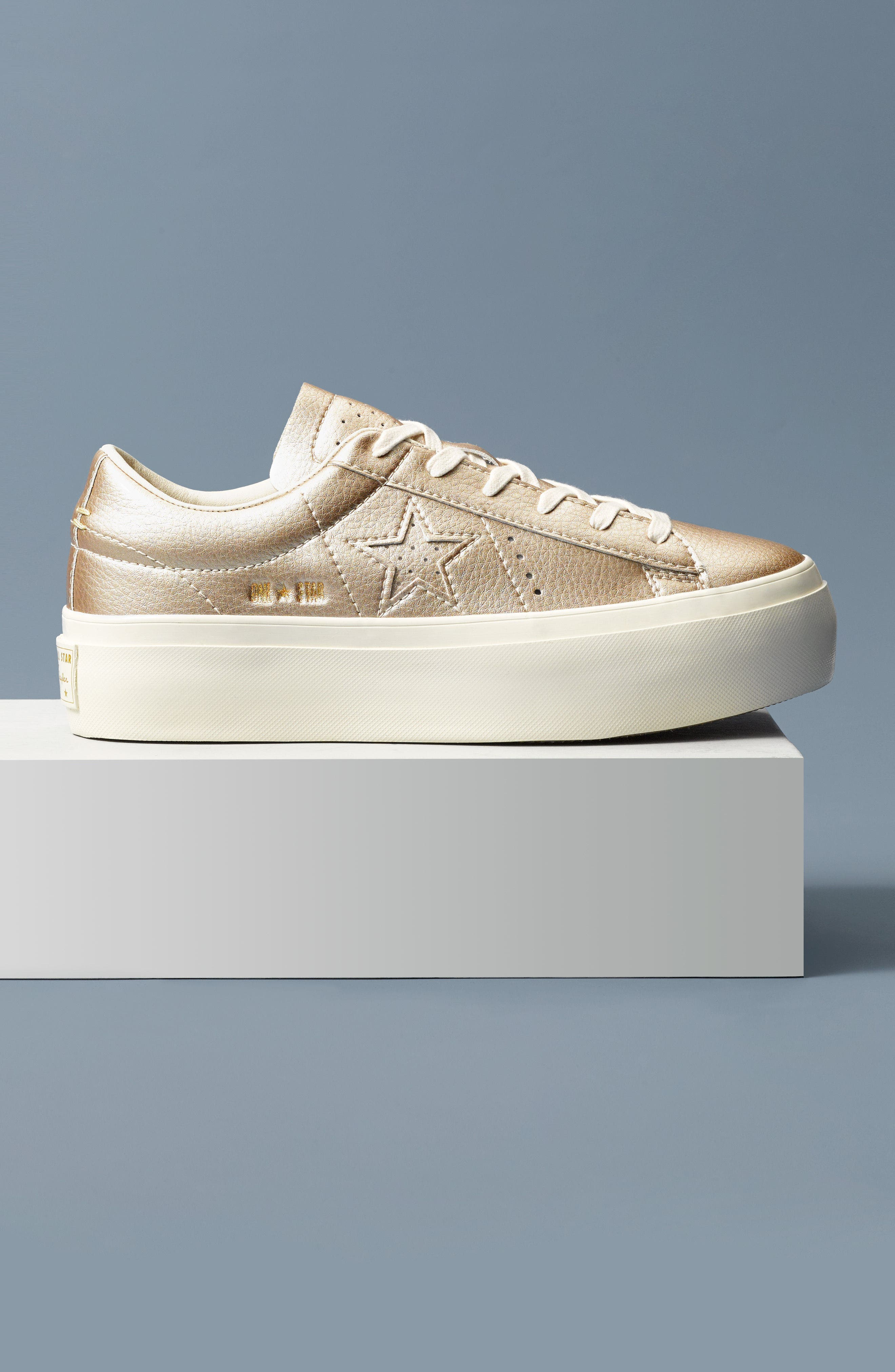 Alternate Image 12  - Converse Chuck Taylor® All Star® One Star Metallic Platform Sneaker (Women)