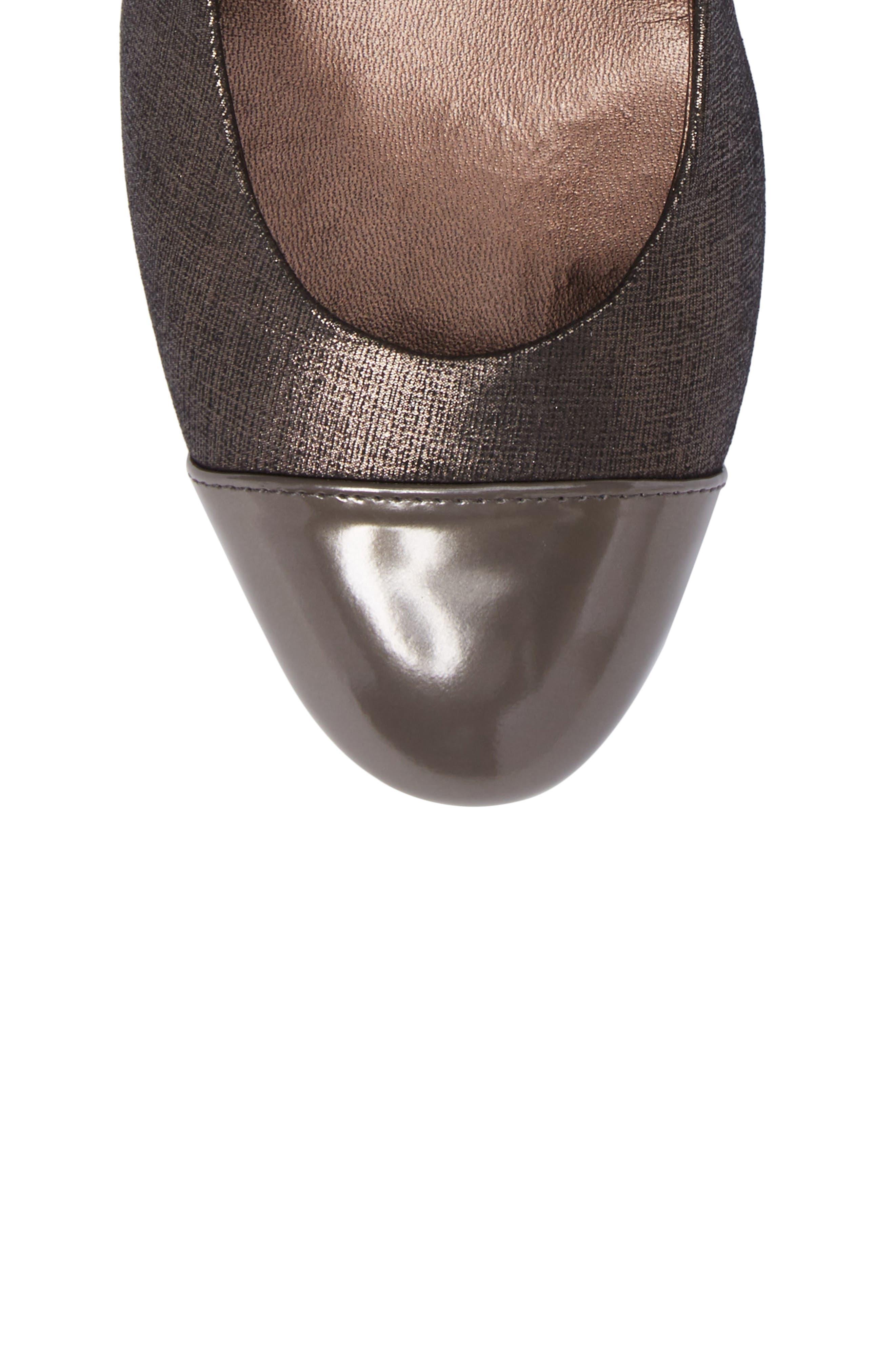 Cap Toe Pump,                             Alternate thumbnail 5, color,                             Francy Combo Leather