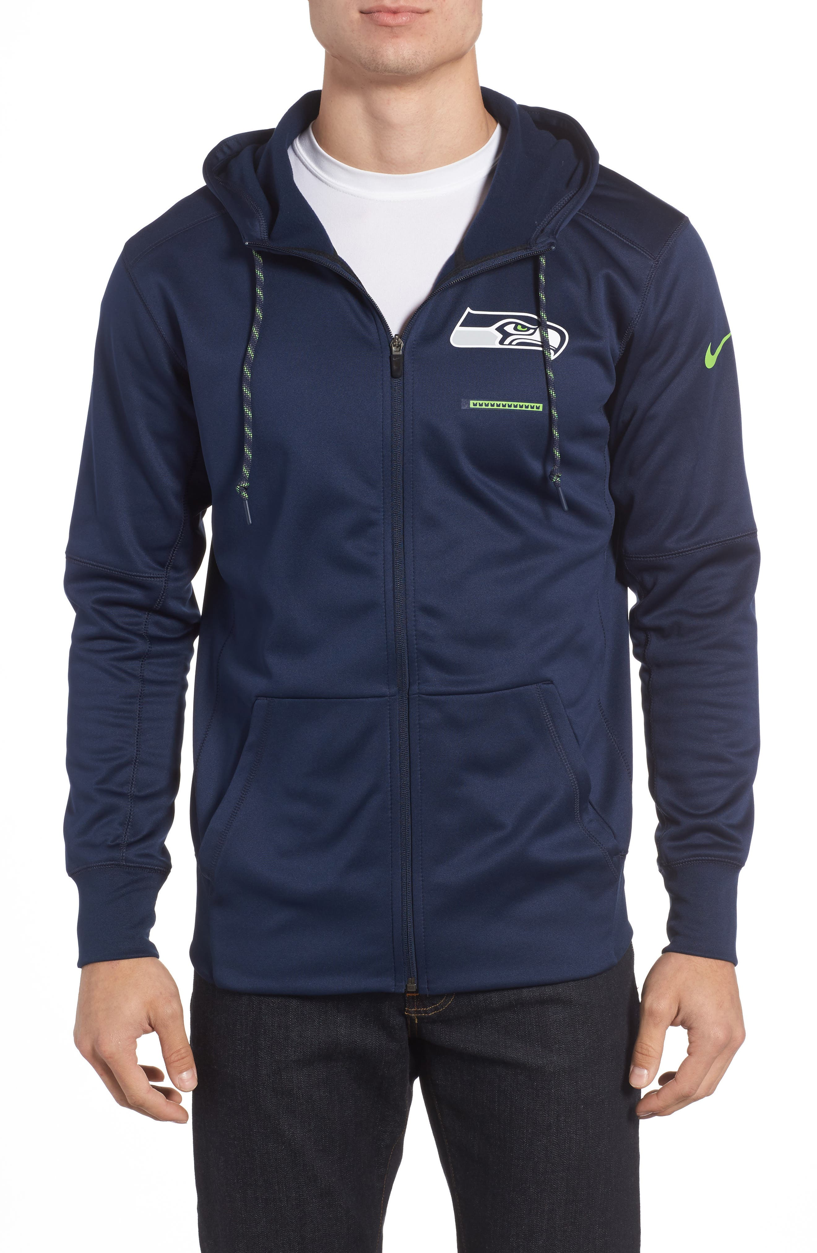Therma-FIT NFL Graphic Zip Hoodie,                         Main,                         color, Seahawks