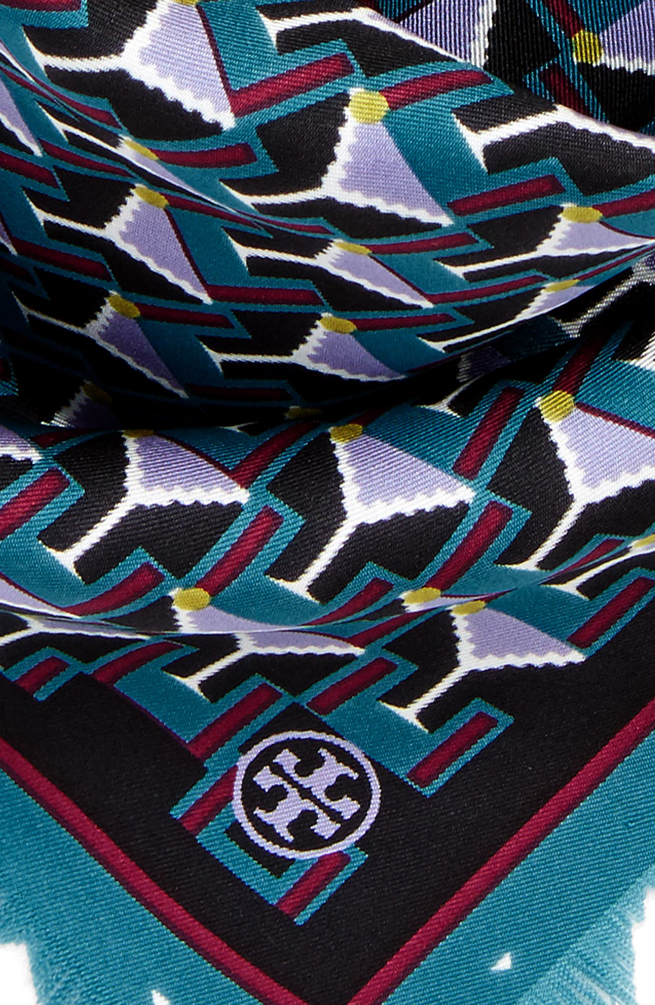 Alternate Image 4  - Tory Burch Martini Silk Neckerchief