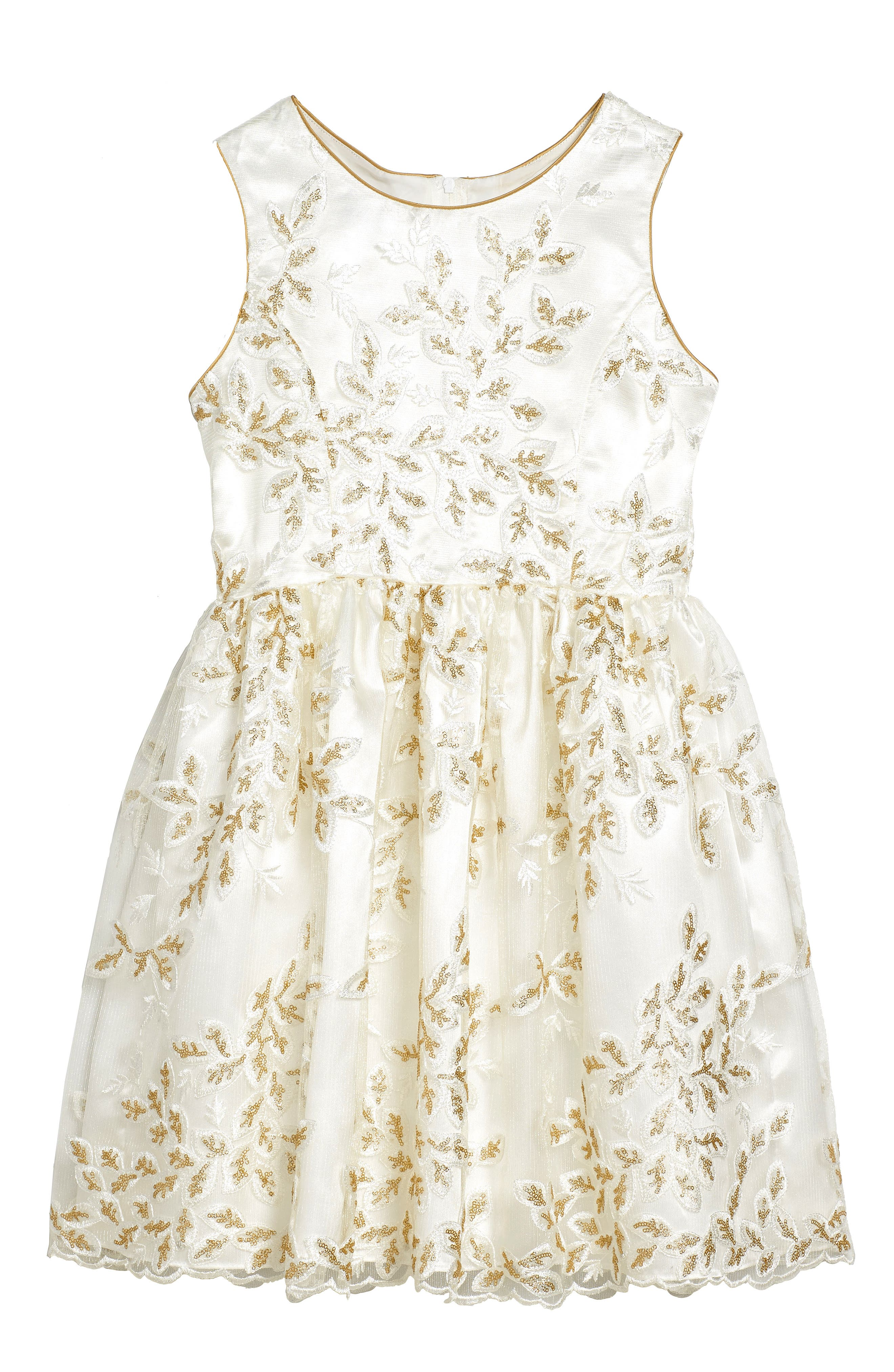 Frais Embroidered Floral Dress (Big Girls)