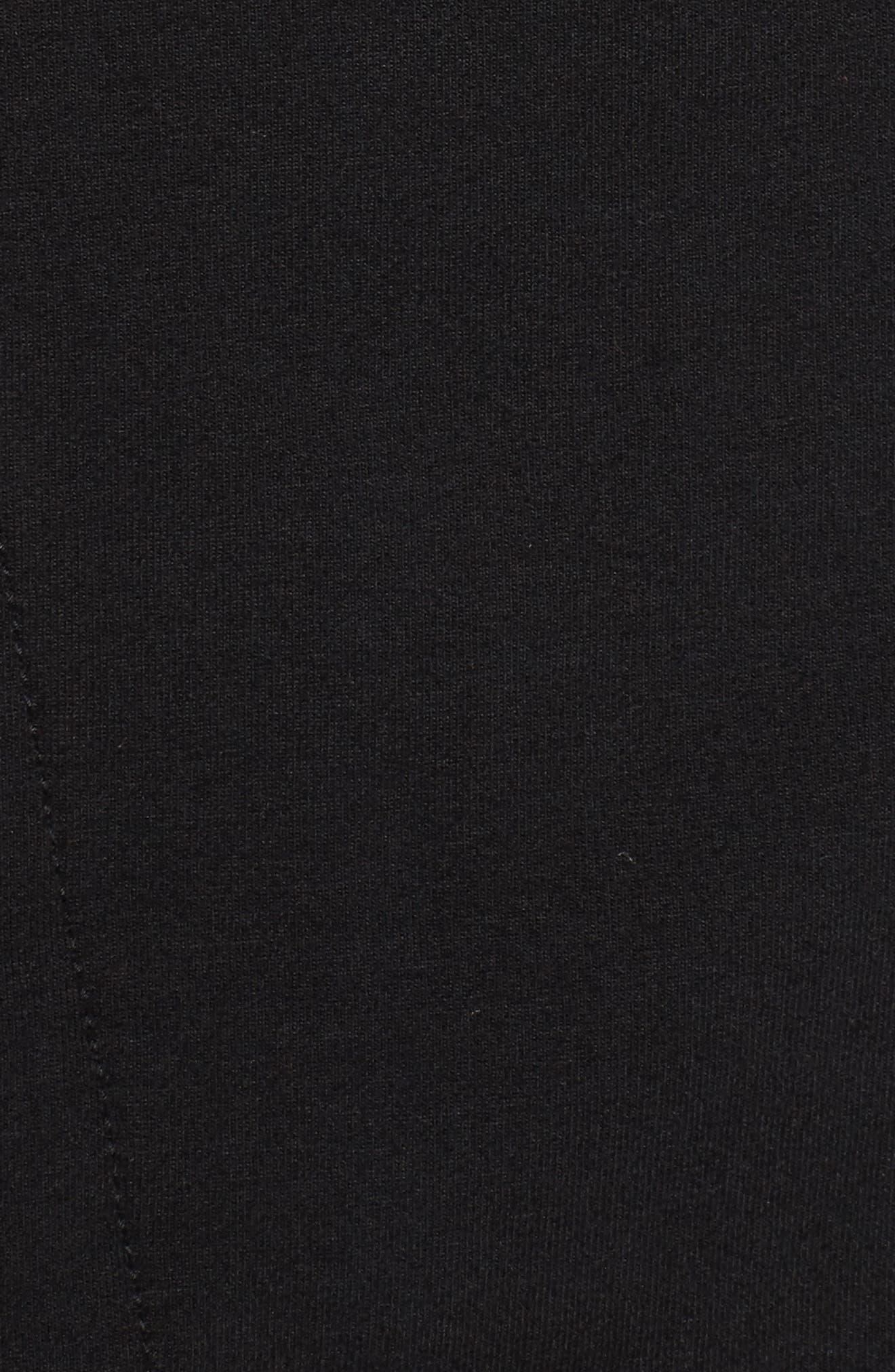 Lace-Up Sweatshirt,                             Alternate thumbnail 5, color,                             Black