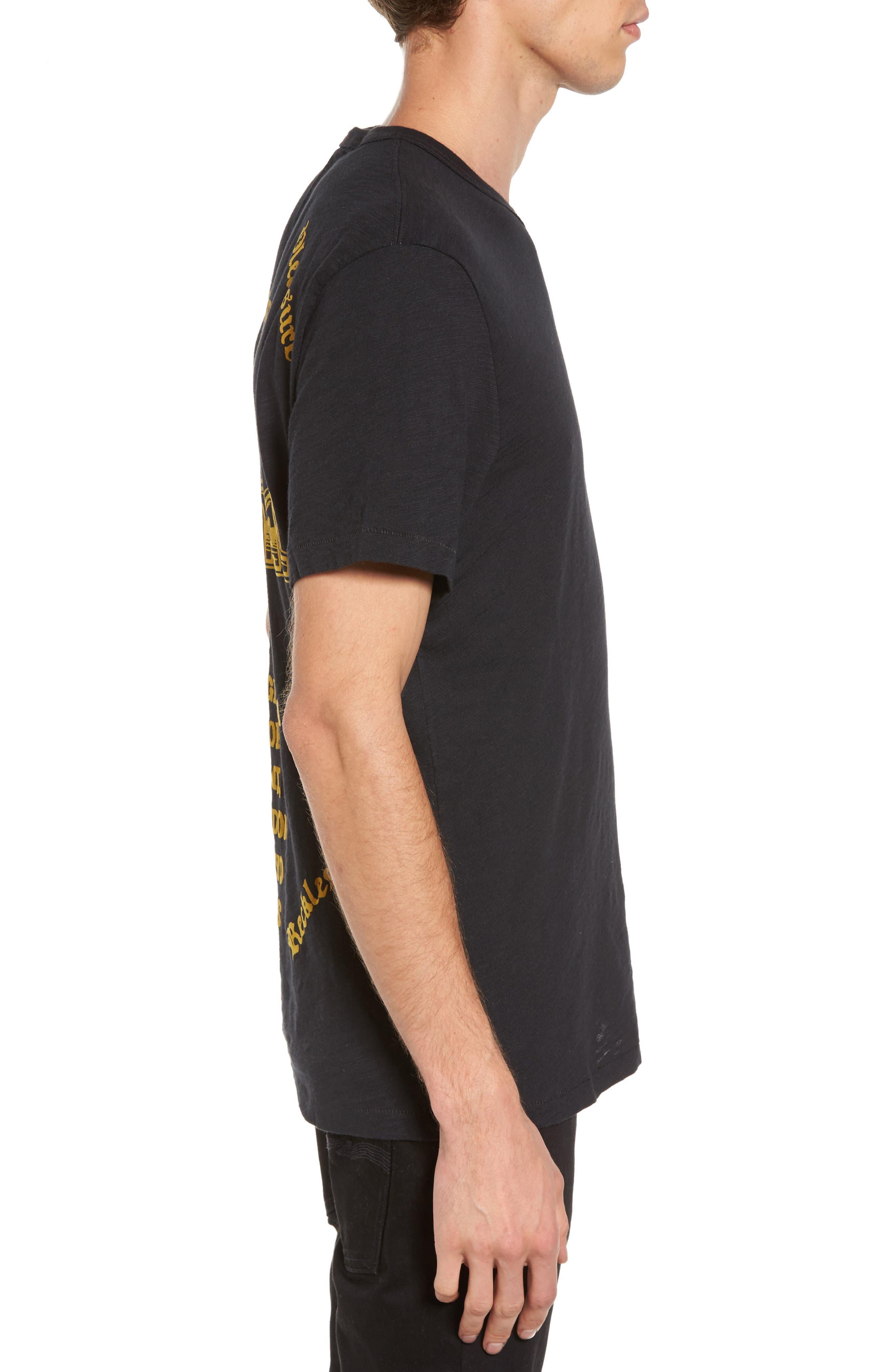 Handbill T-Shirt,                             Alternate thumbnail 3, color,                             Black