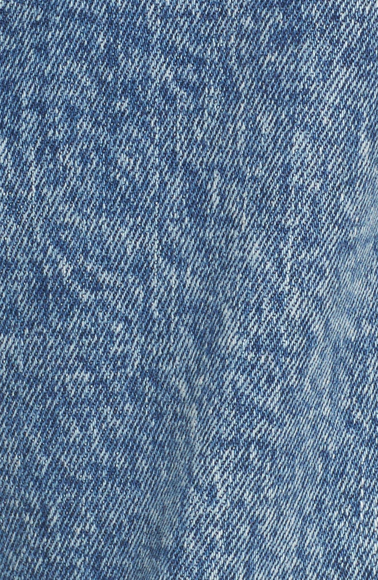 Noella Straight Leg Crop Jeans,                             Alternate thumbnail 6, color,                             Westlyn Destructed