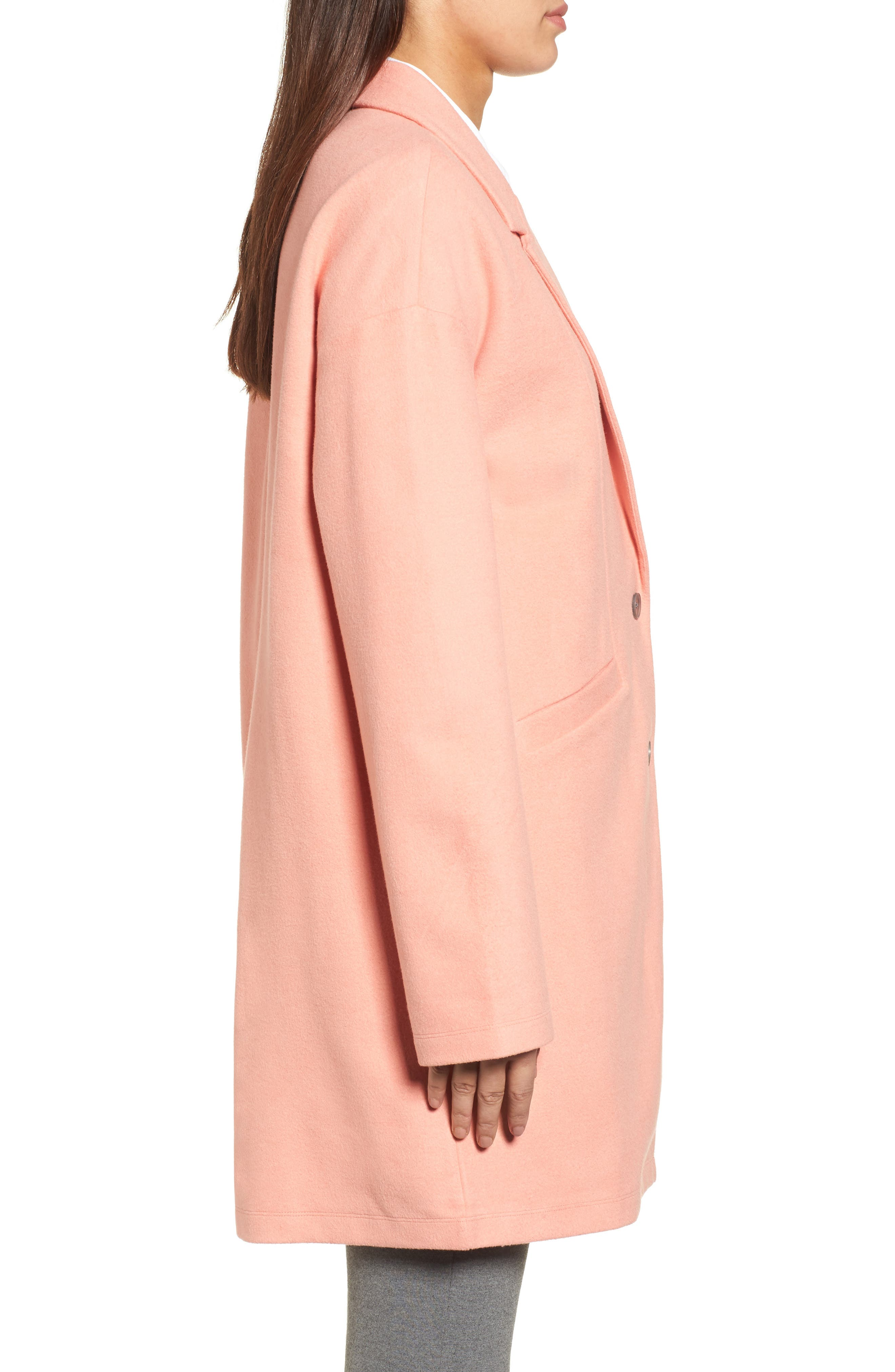 Two-Button Jacket,                             Alternate thumbnail 3, color,                             Coral Terra