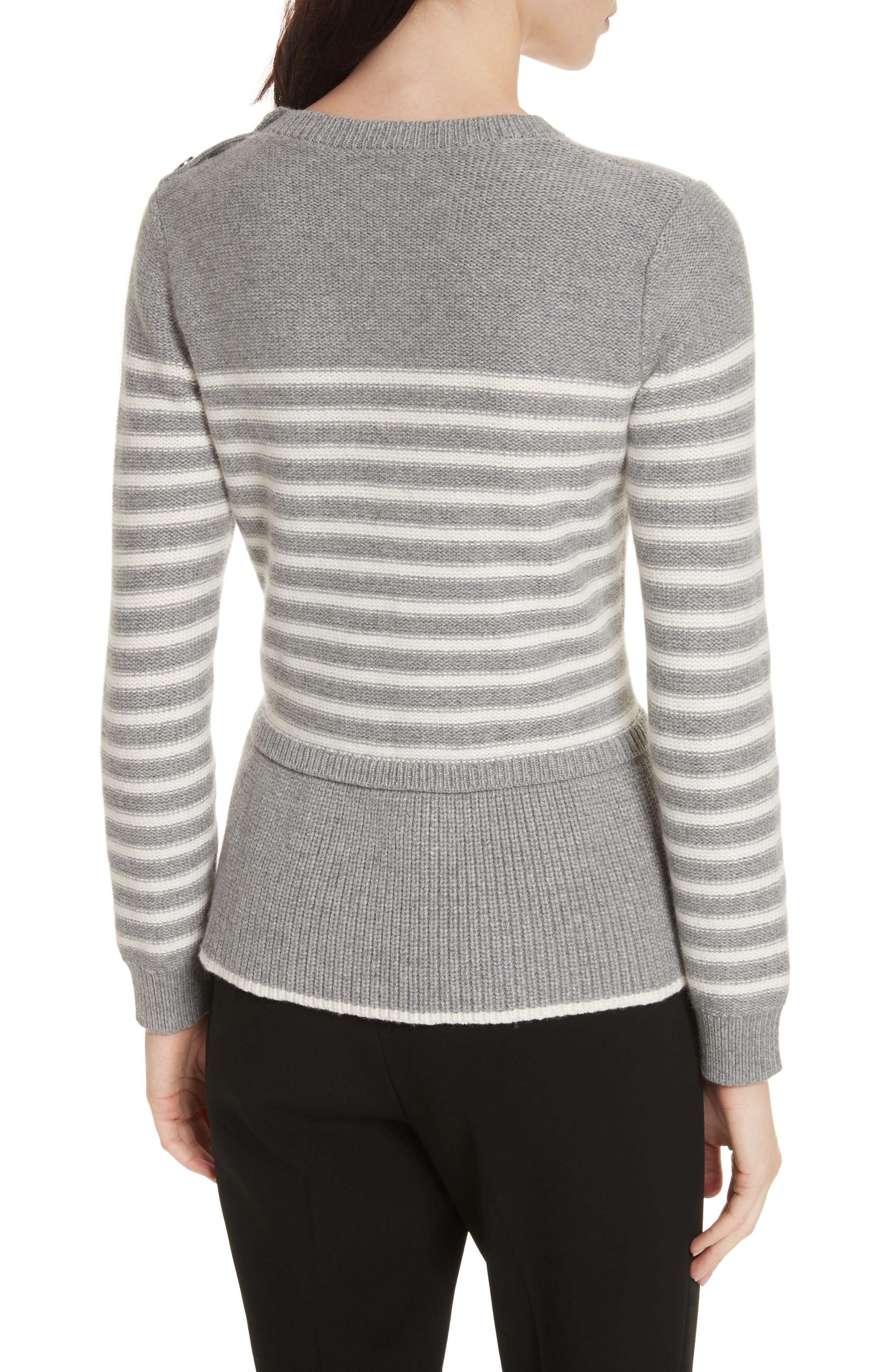 Alternate Image 2  - kate spade new york stripe peplum sweater
