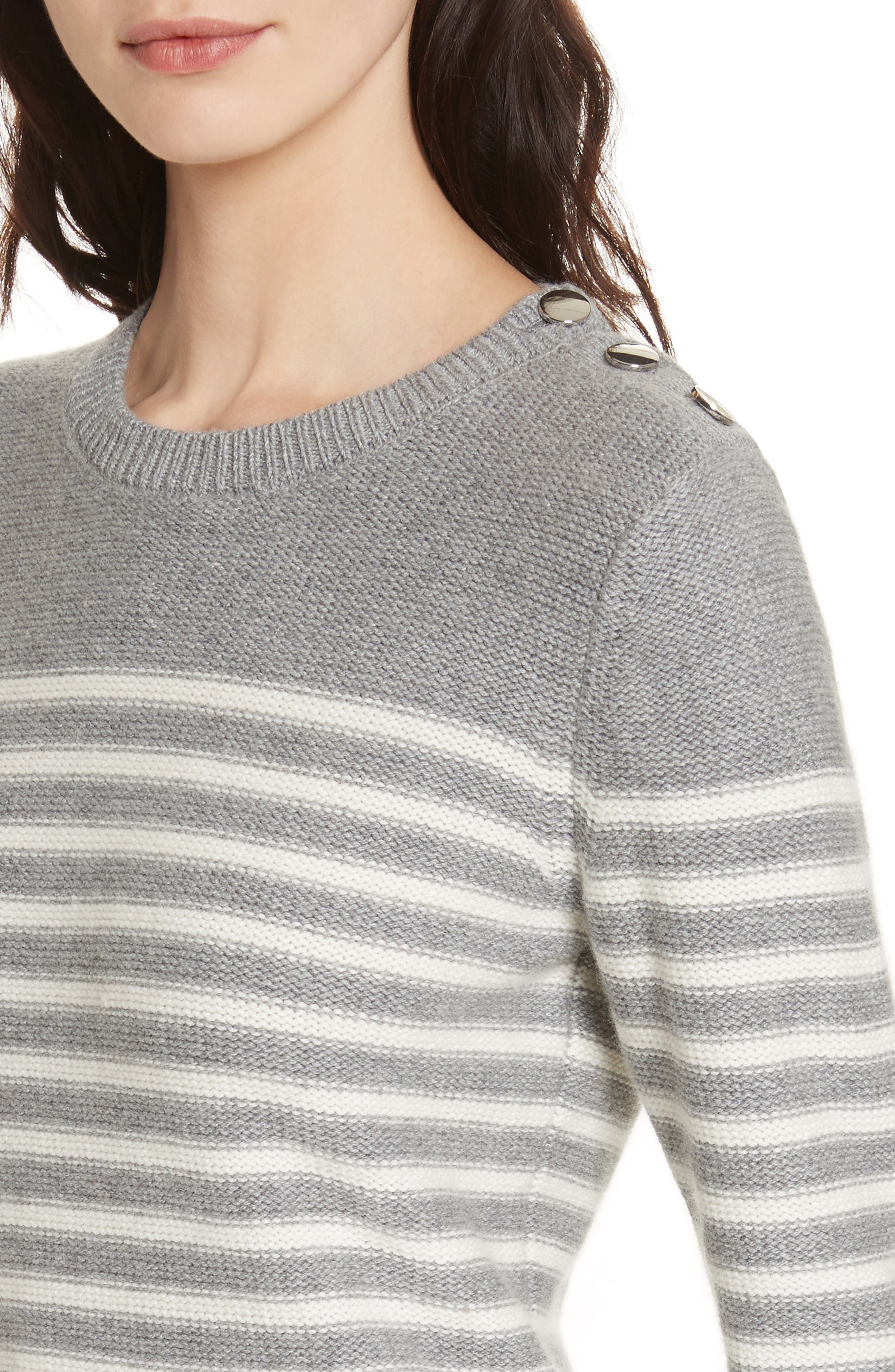Alternate Image 4  - kate spade new york stripe peplum sweater