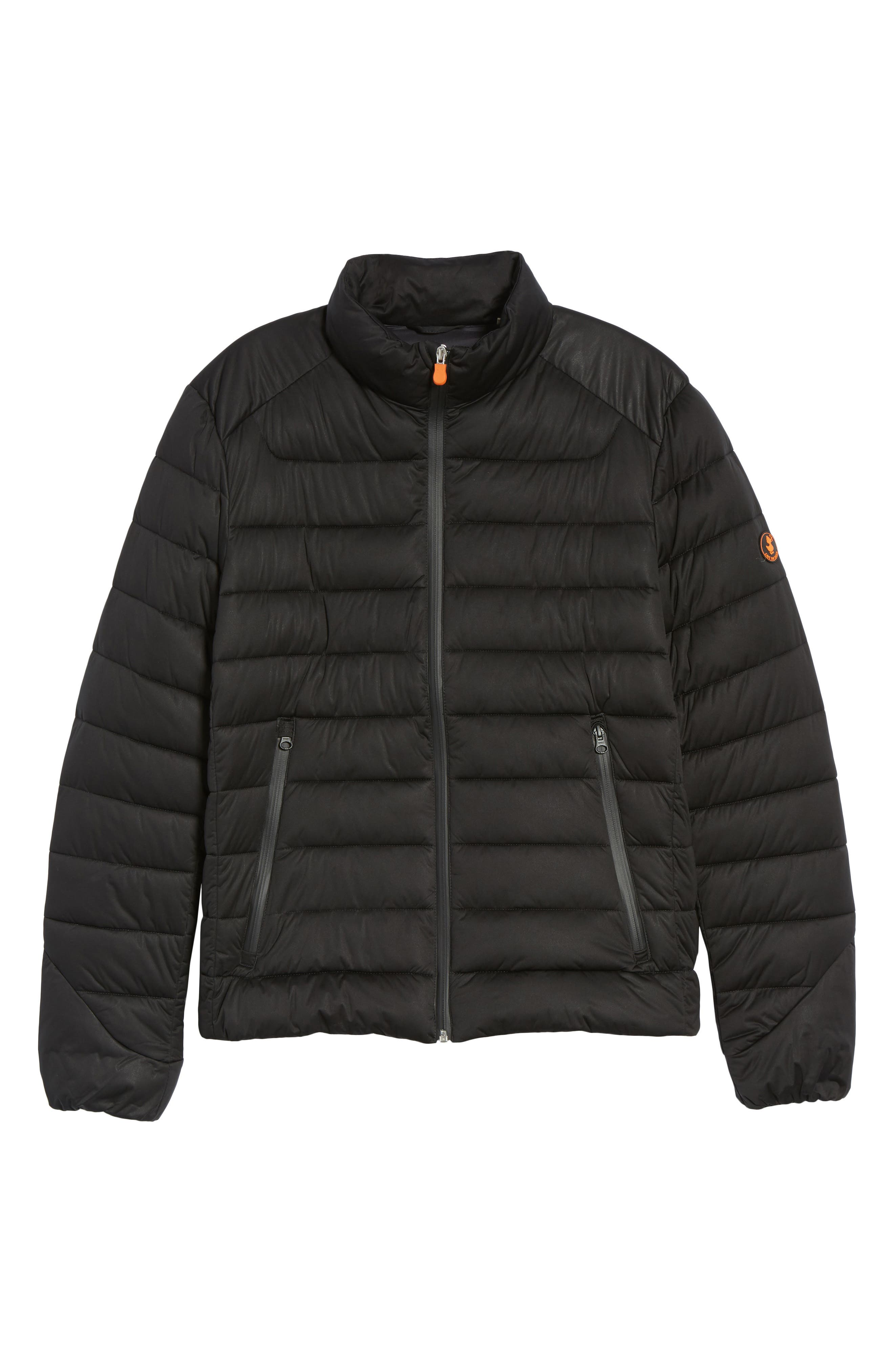 Water Resistant Puffer Jacket,                             Alternate thumbnail 6, color,                             Black