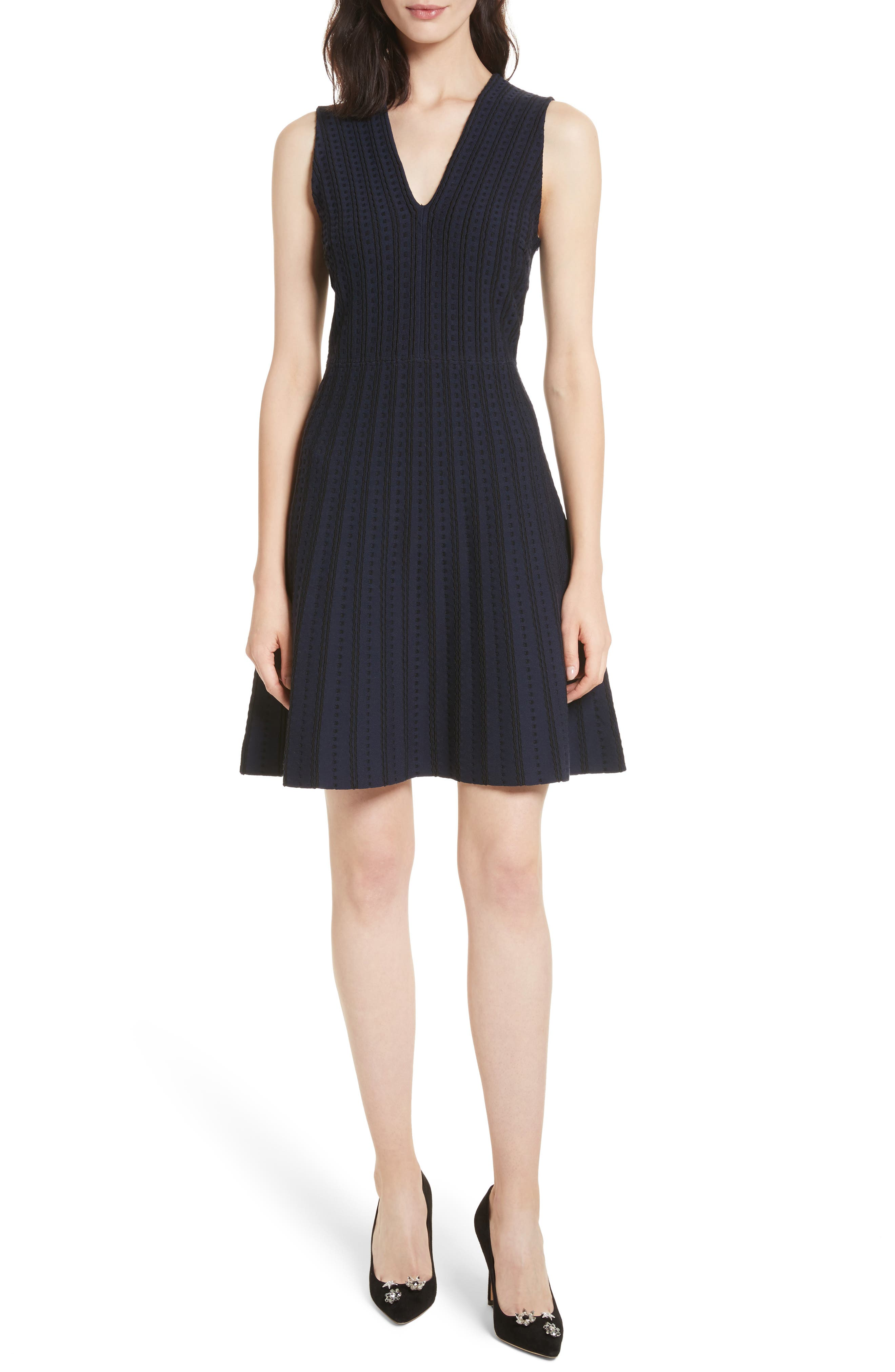 textured sweater dress,                             Main thumbnail 1, color,                             Rich Navy