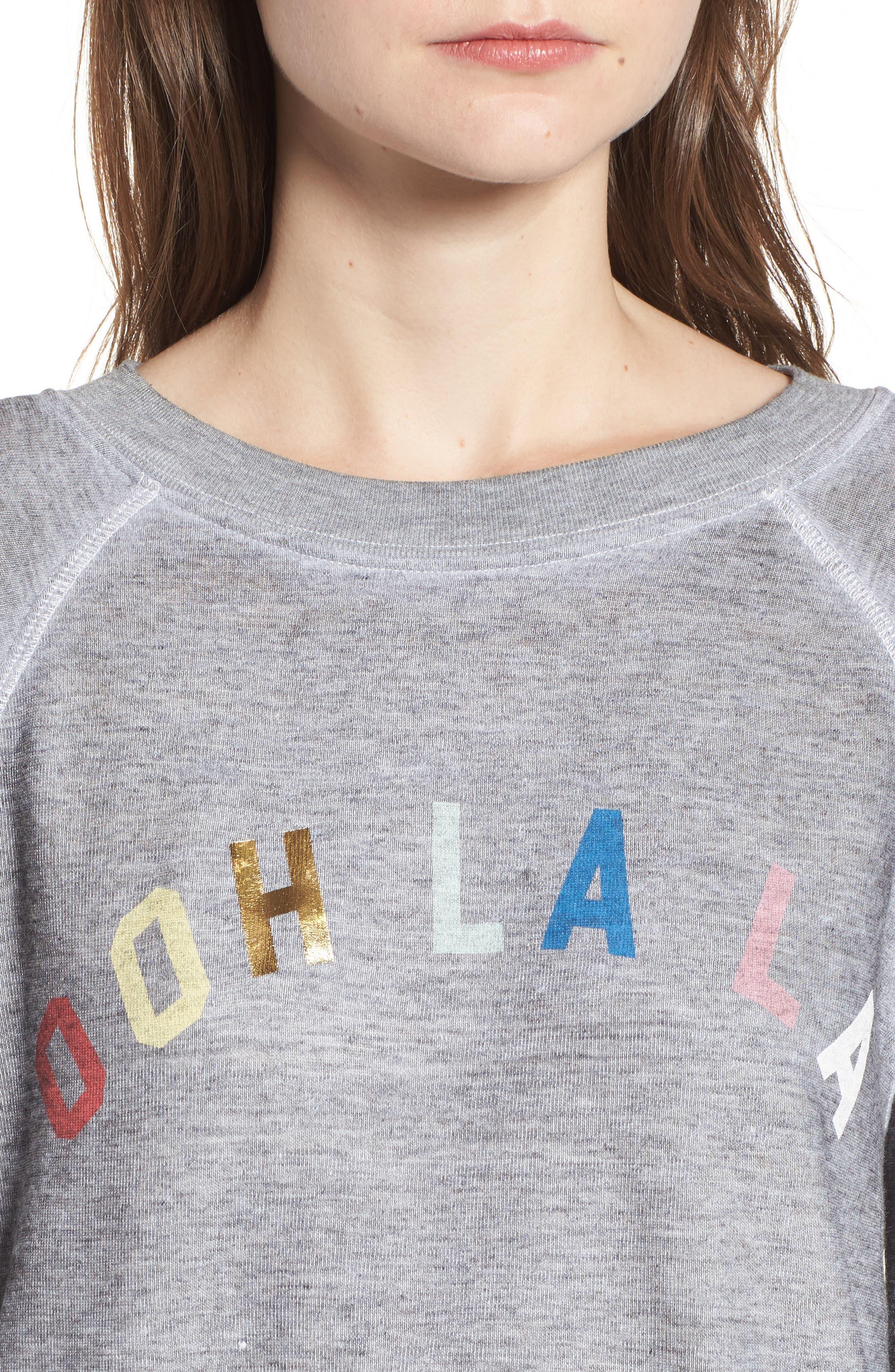 Ooh La La Sweatshirt,                             Alternate thumbnail 4, color,                             Heather