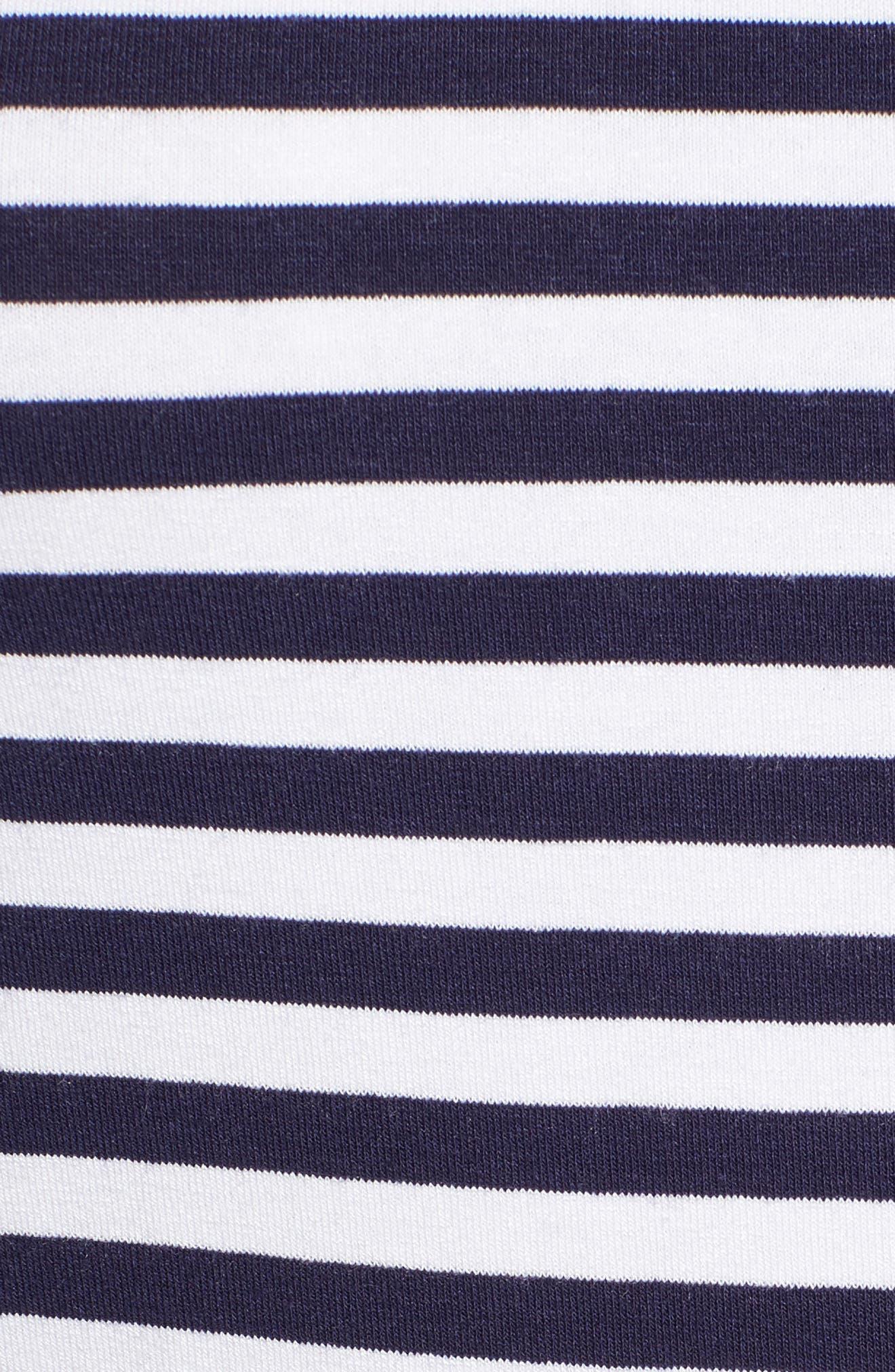 Stripe Long Sleeve Tee,                             Alternate thumbnail 5, color,                             Navy- Ivory Even Stripe