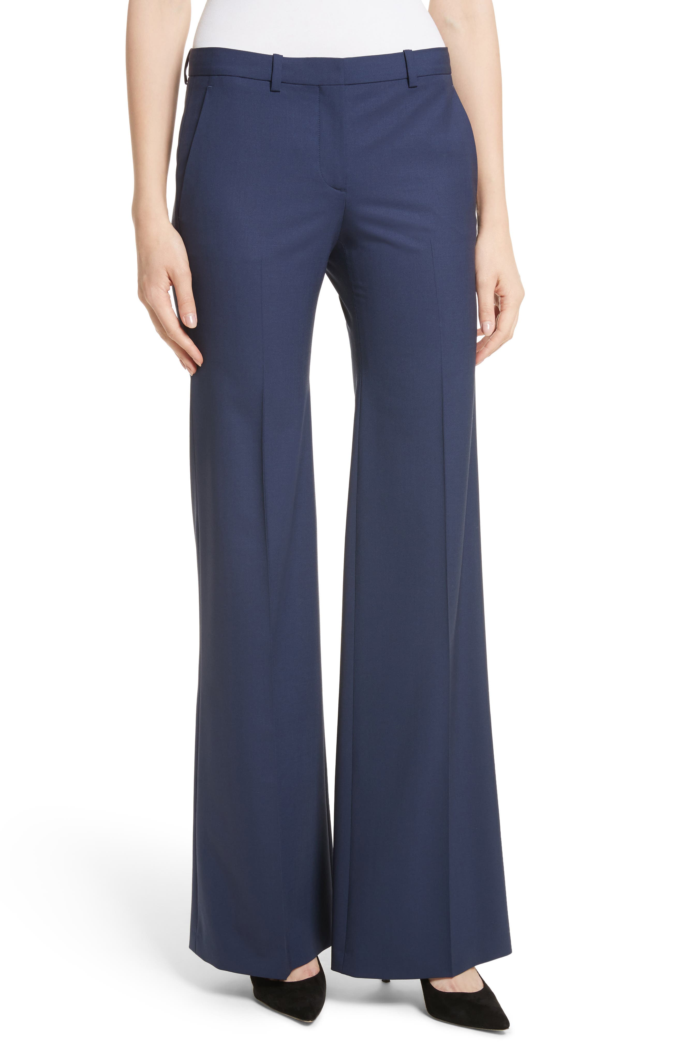 Alternate Image 1 Selected - Theory Demetria 2 Flare Leg Good Wool Suit Pants