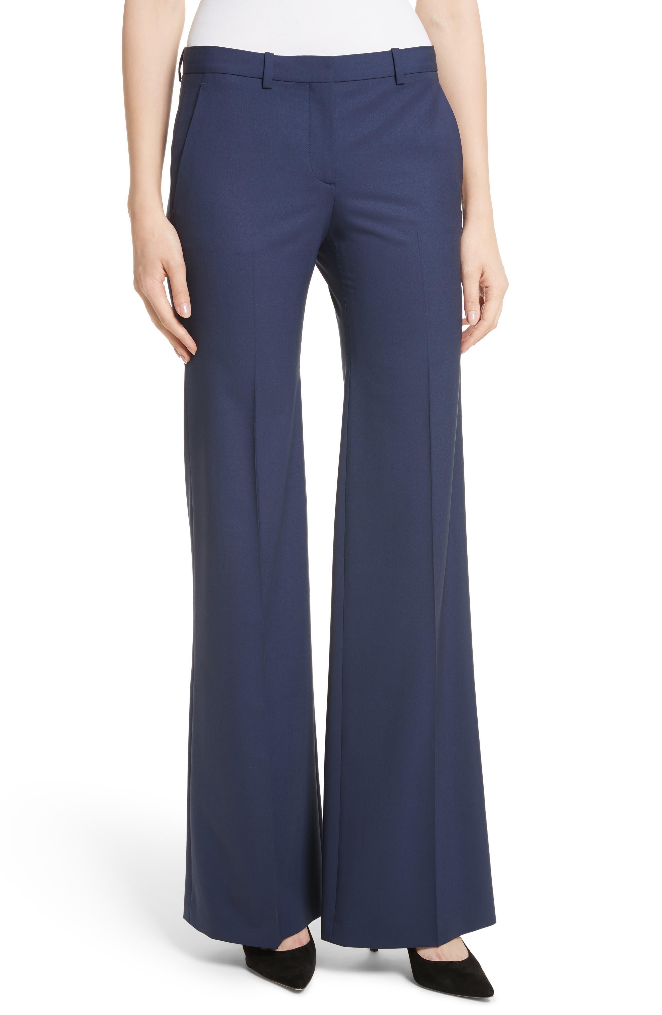 Main Image - Theory Demetria 2 Flare Leg Good Wool Suit Pants