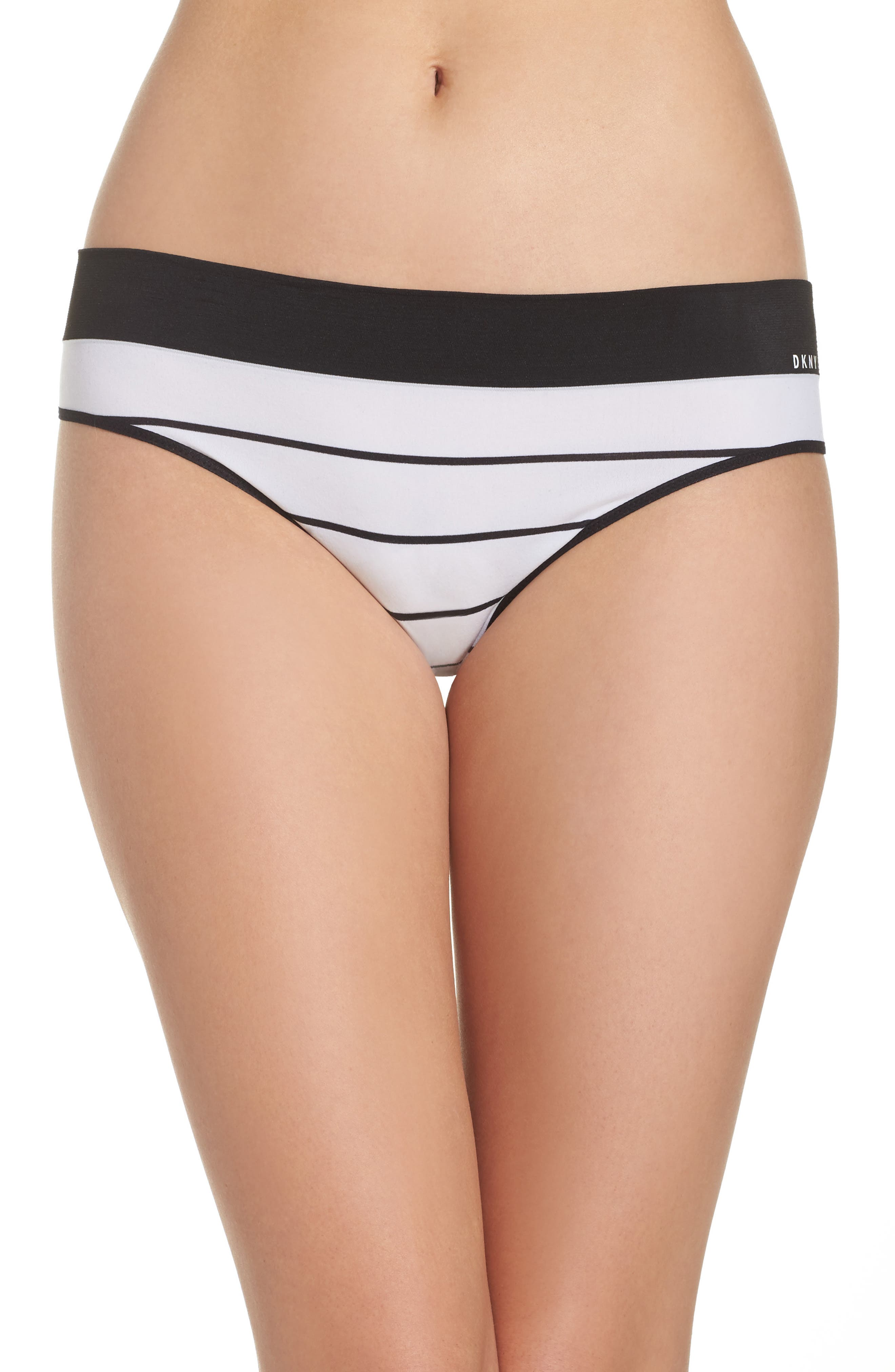 Alternate Image 1 Selected - DKNY LiteWear Seamless Thong (3 for $33)