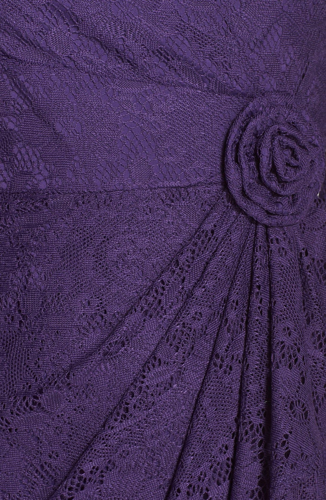 Alternate Image 4  - Adrianna Papell Rosette Side Lace Dress