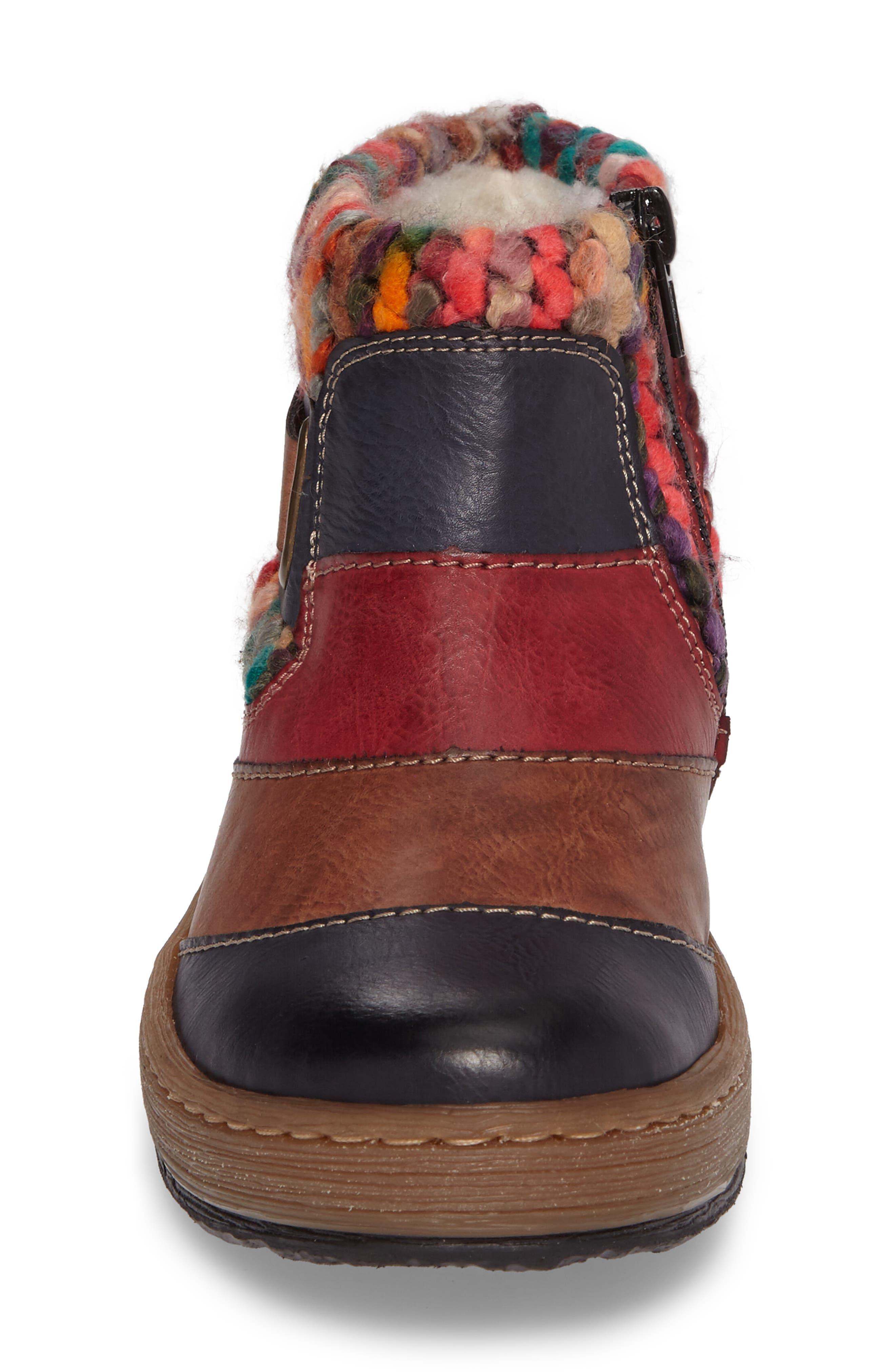 Felicitas 82 Boot,                             Alternate thumbnail 4, color,                             Ocean Multi Faux Leather