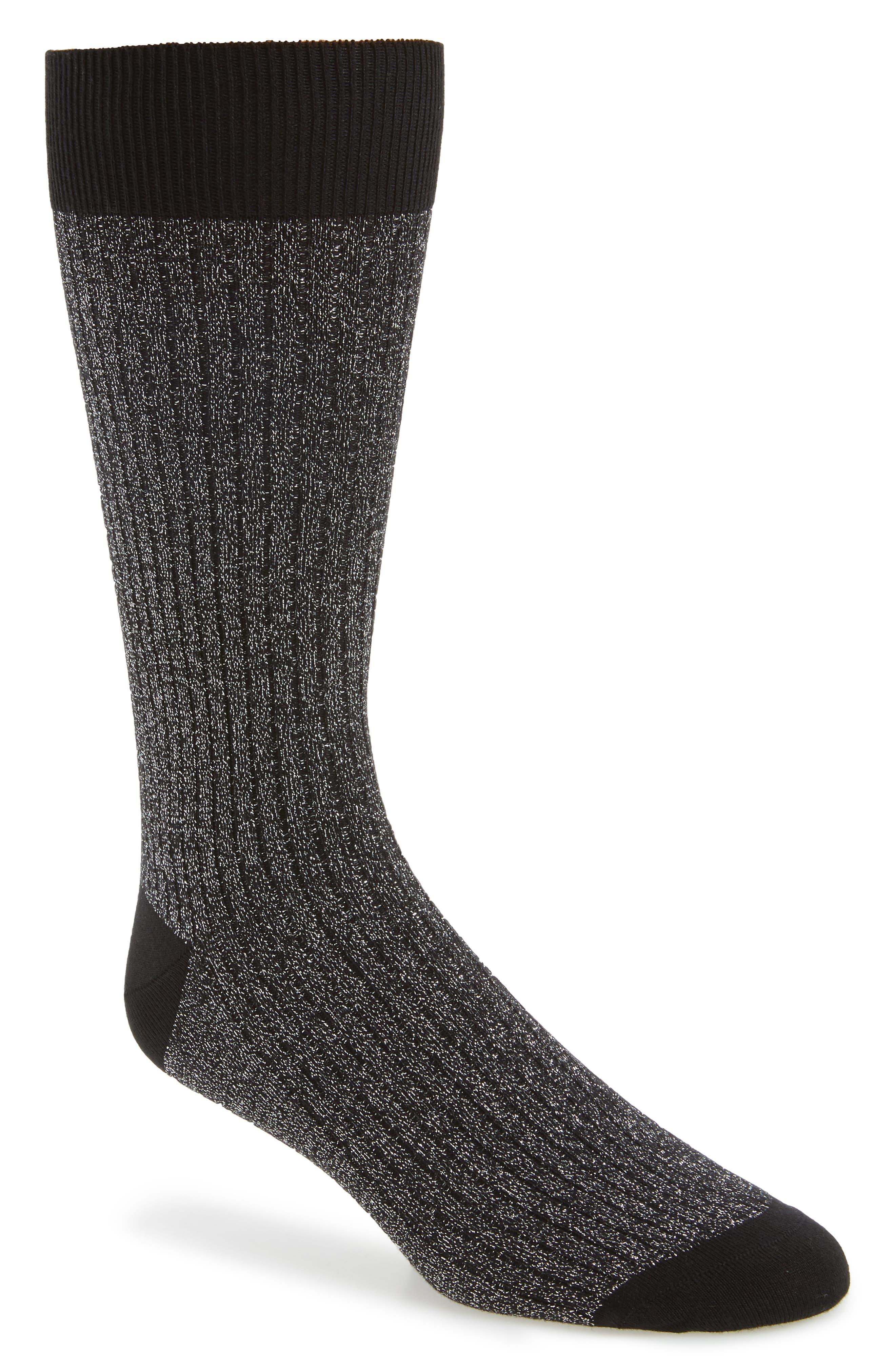 Sparkle Socks,                         Main,                         color, Black