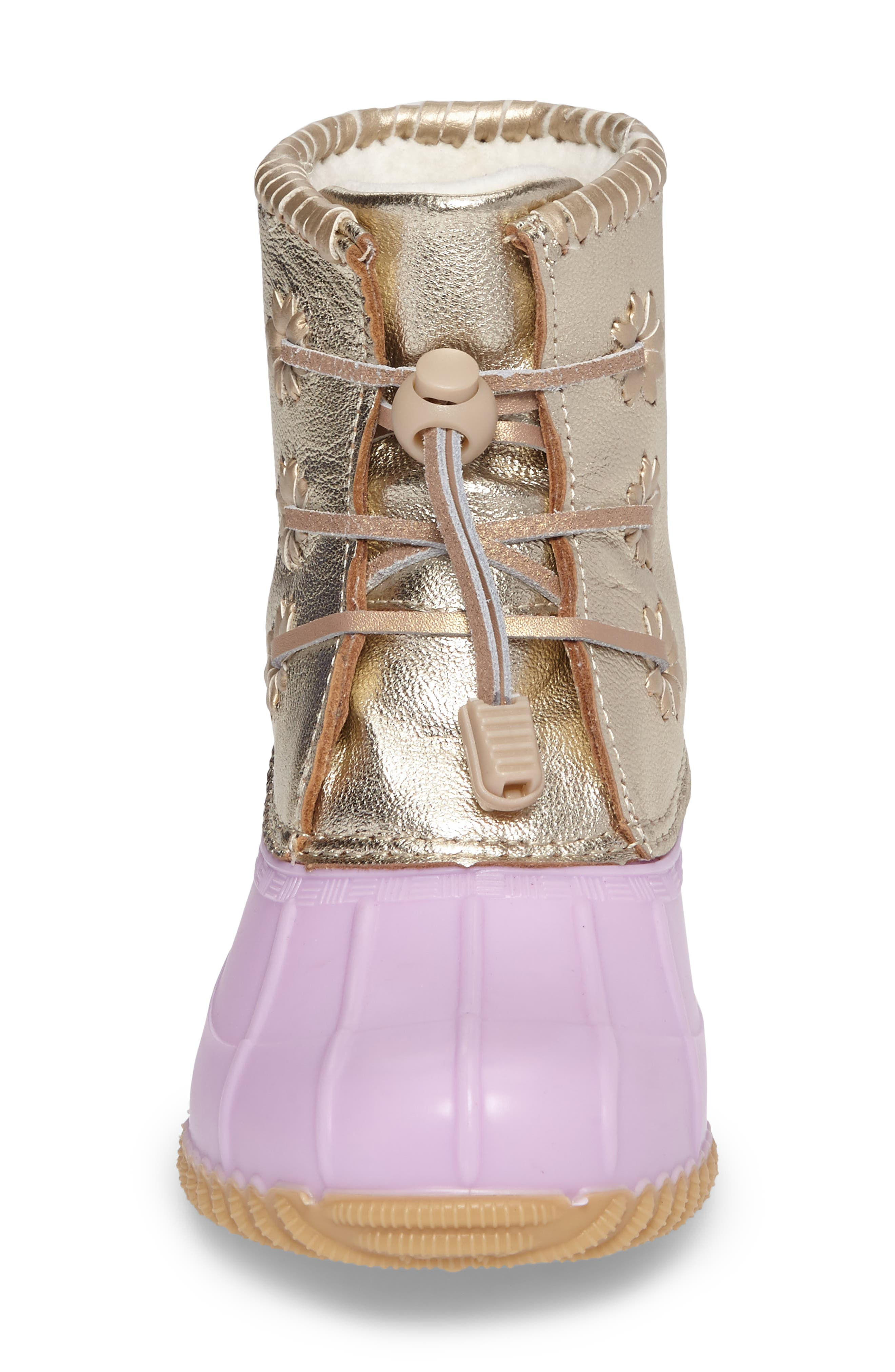 Alternate Image 4  - Jack Rogers Miss Chloe Metallic Rain Boot (Toddler, Little Kid & Big Kid)